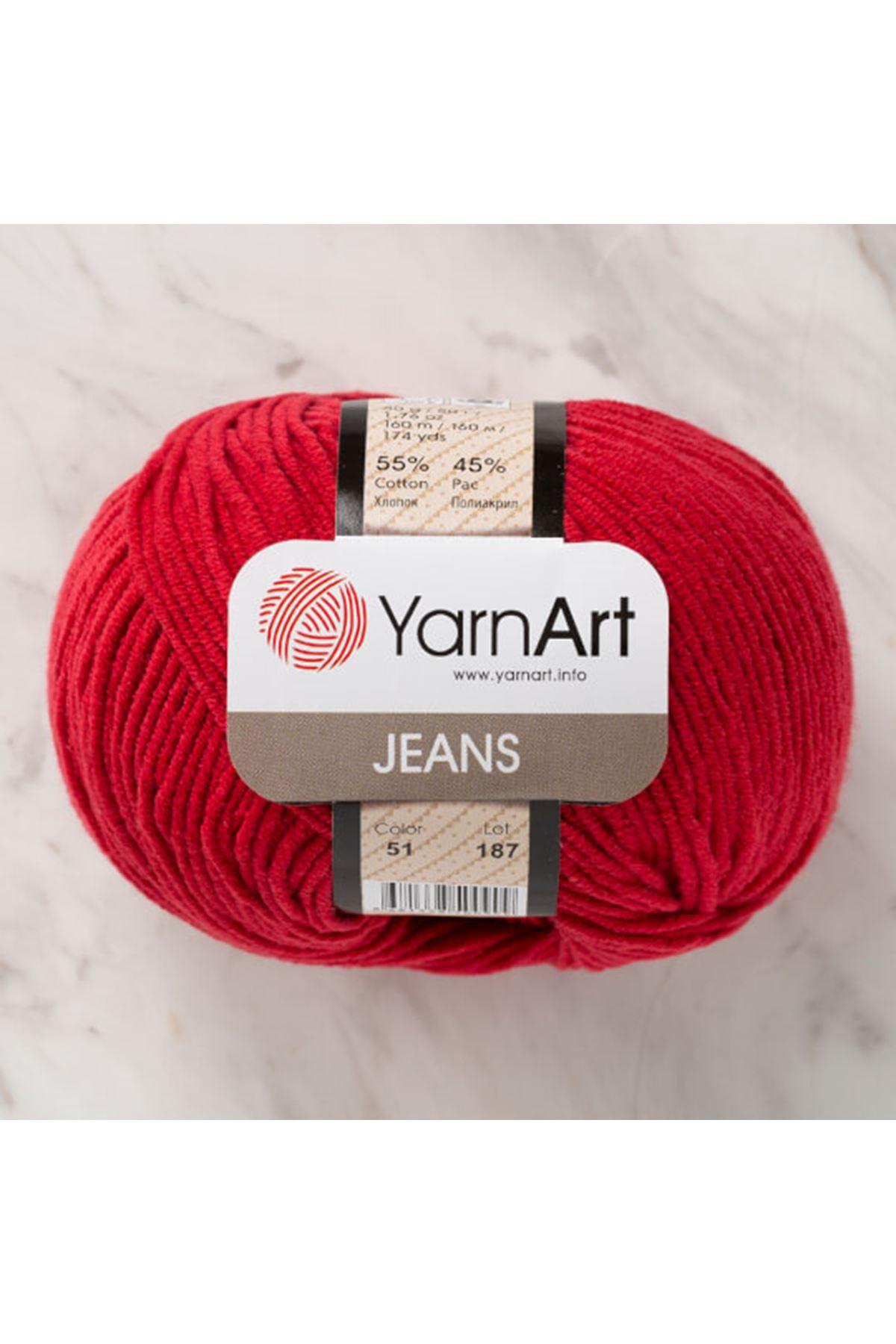 Yarnart Jeans 51 Kırmızı