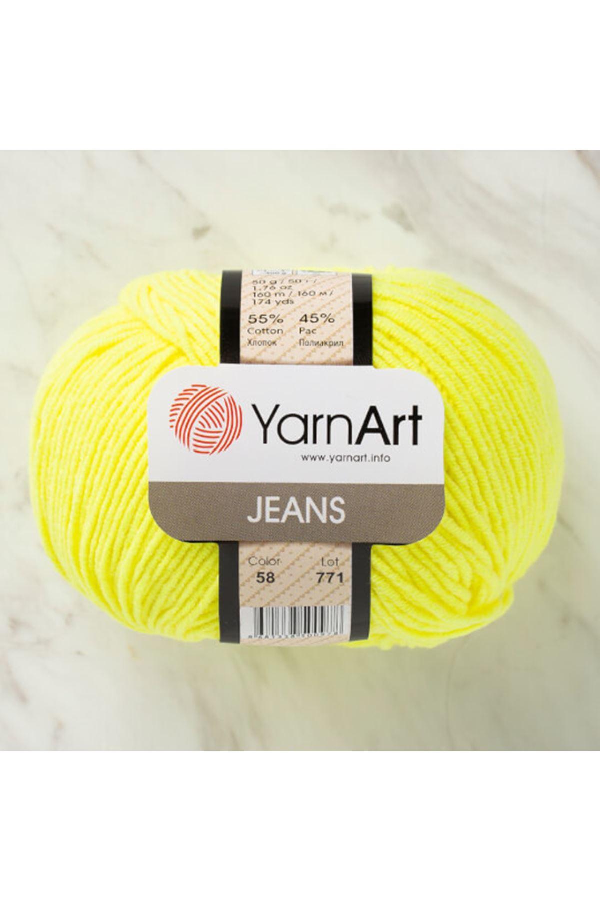 Yarnart Jeans 58 Limon Sarısı