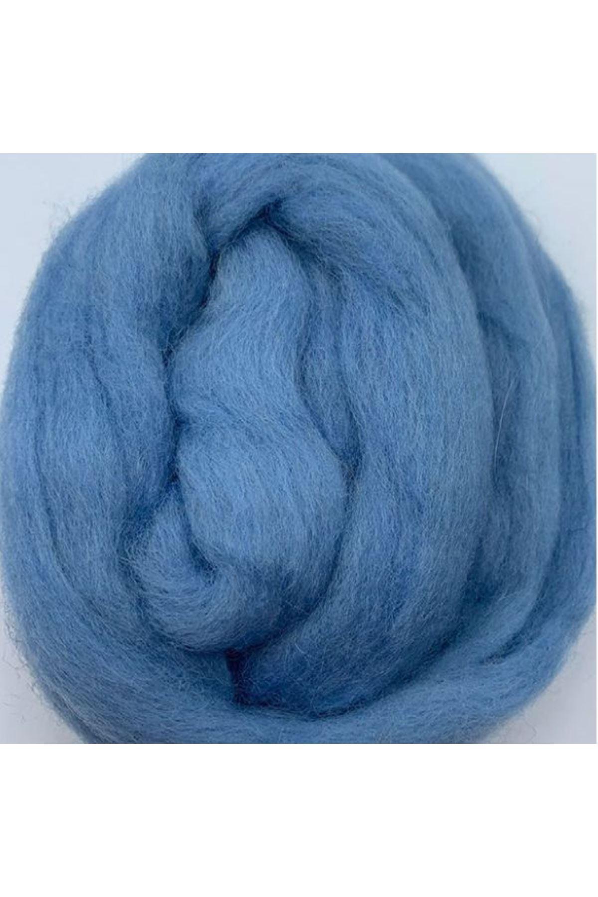 Saf Yün Keçe 25 gram 1 metre - Mavi