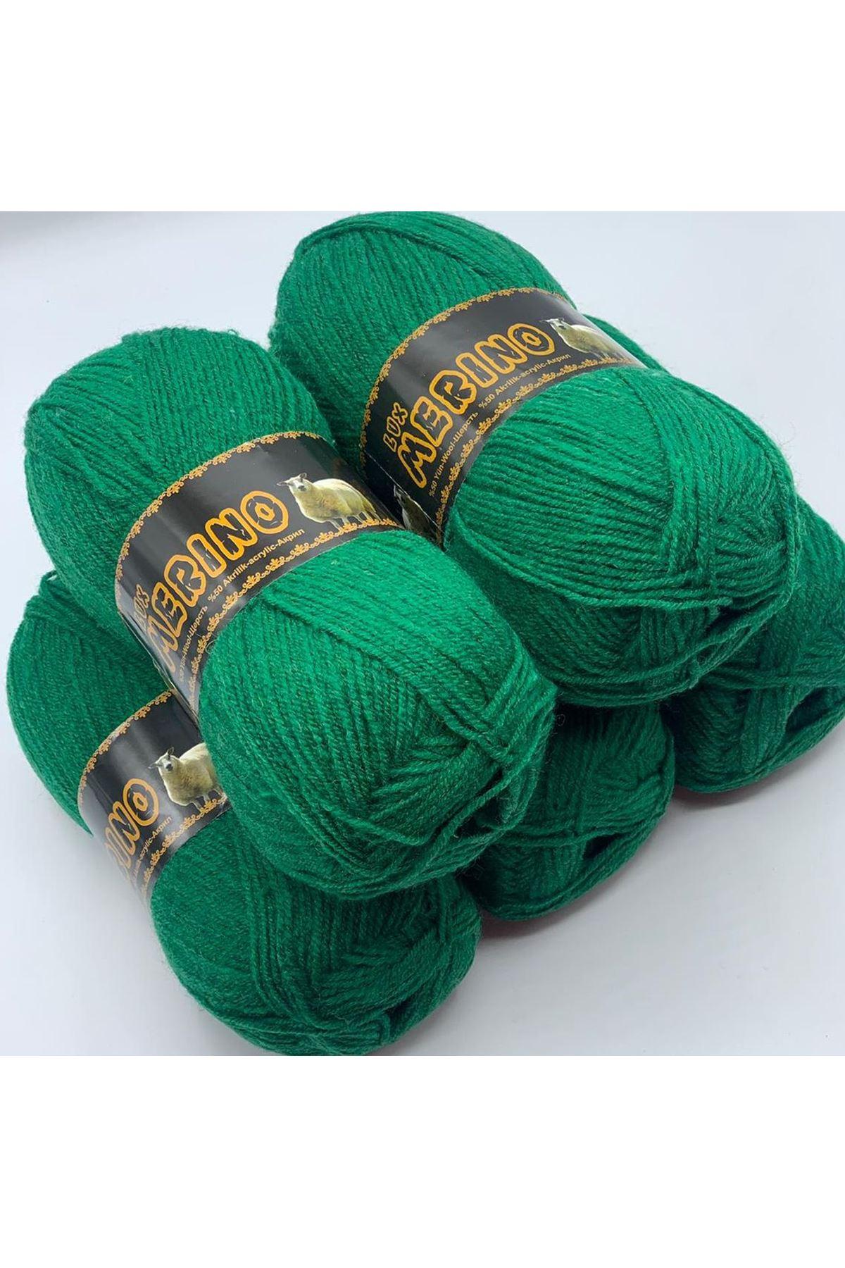 İhrac Fazlası 5'li Paket 1162 %50 Merino Koyu Yeşil
