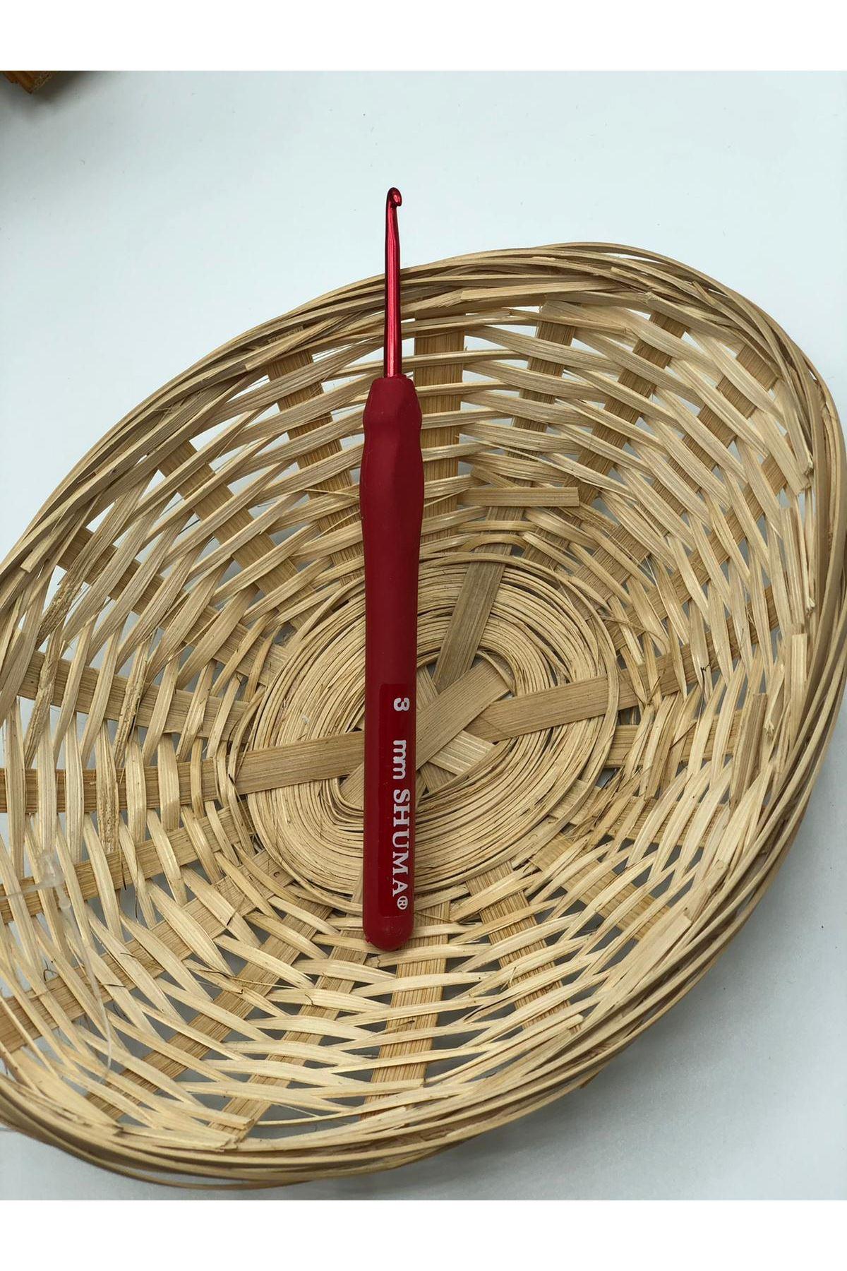 Shuma Kırmızı Örgü Tığı 3 mm