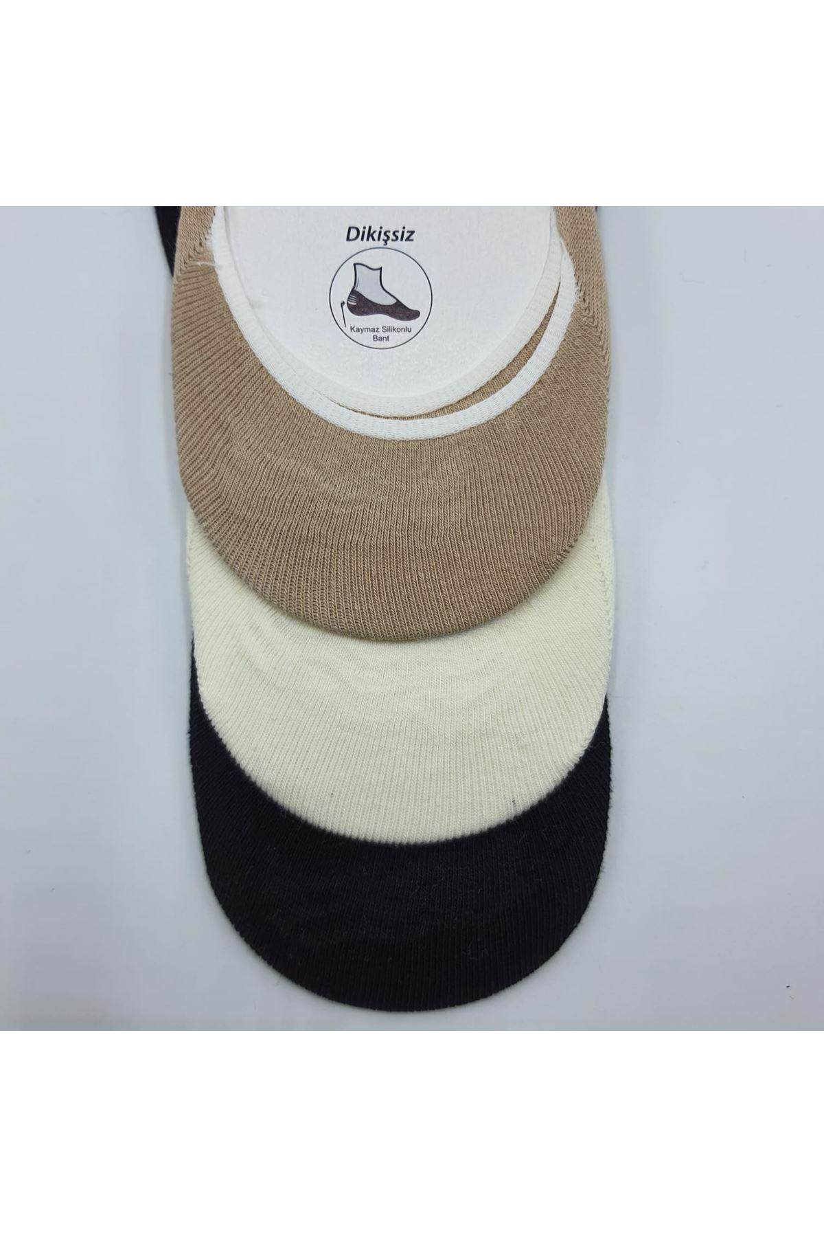 Altılı Erkek Babet Çorap Siyah Krem Bej
