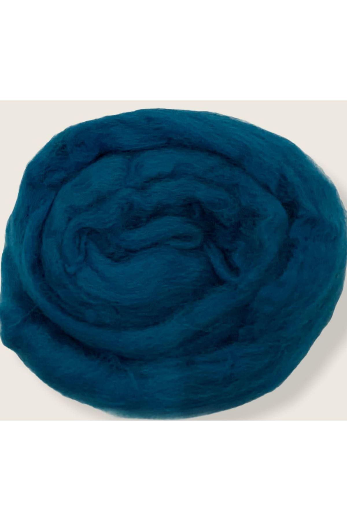 Saf Yün Keçe 25 gram 1 metre - Saks Mavisi