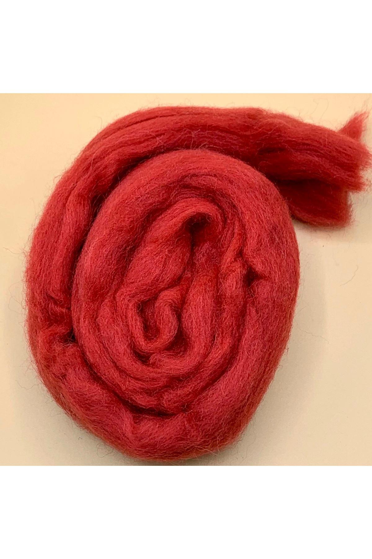 Saf Yün Keçe 25 gram 1 metre - Bayrak Kırmızı