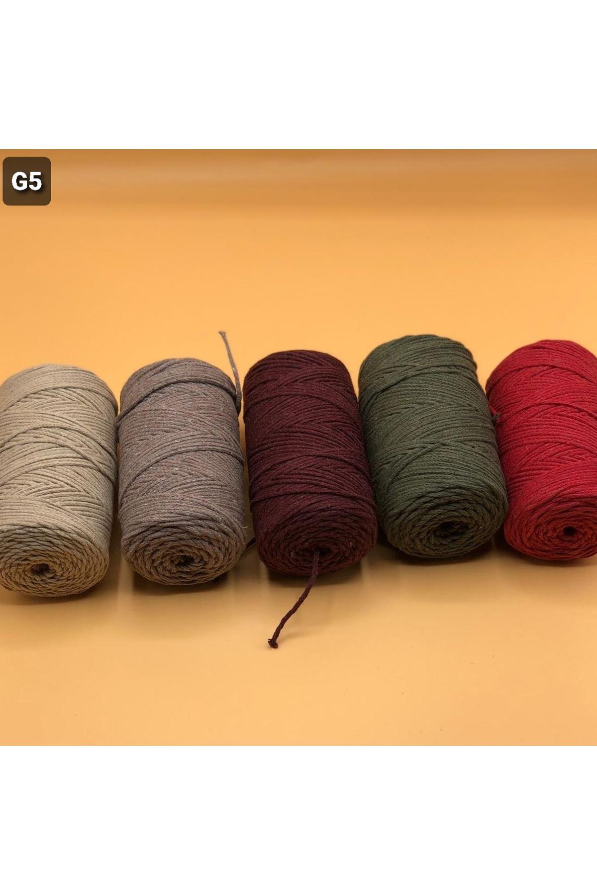 Cotton Makrome MIX Paket 1270 gram Grup 5