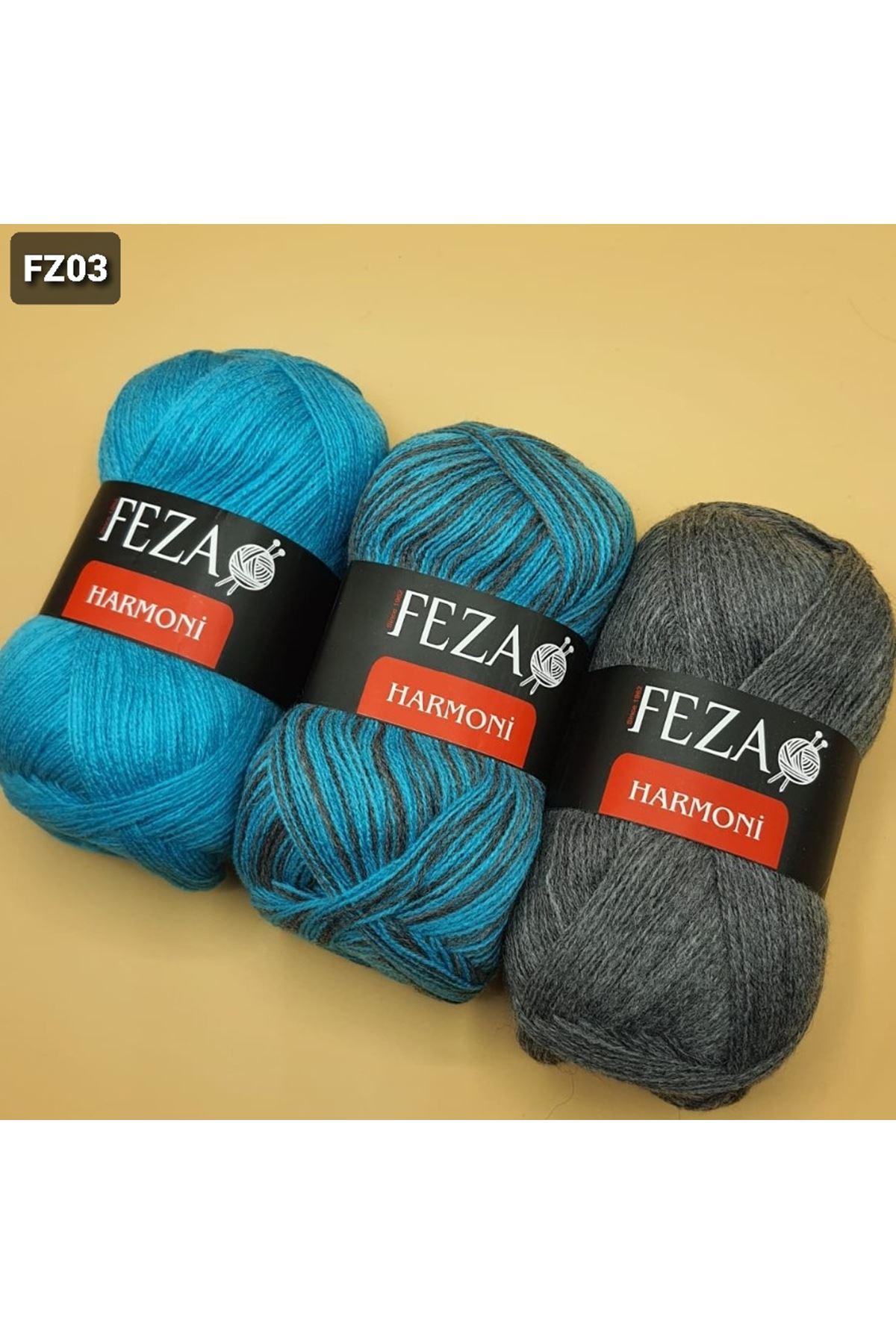 Feza Harmoni Degrade 3x50 Gram Turkuaz Füme Grup 3