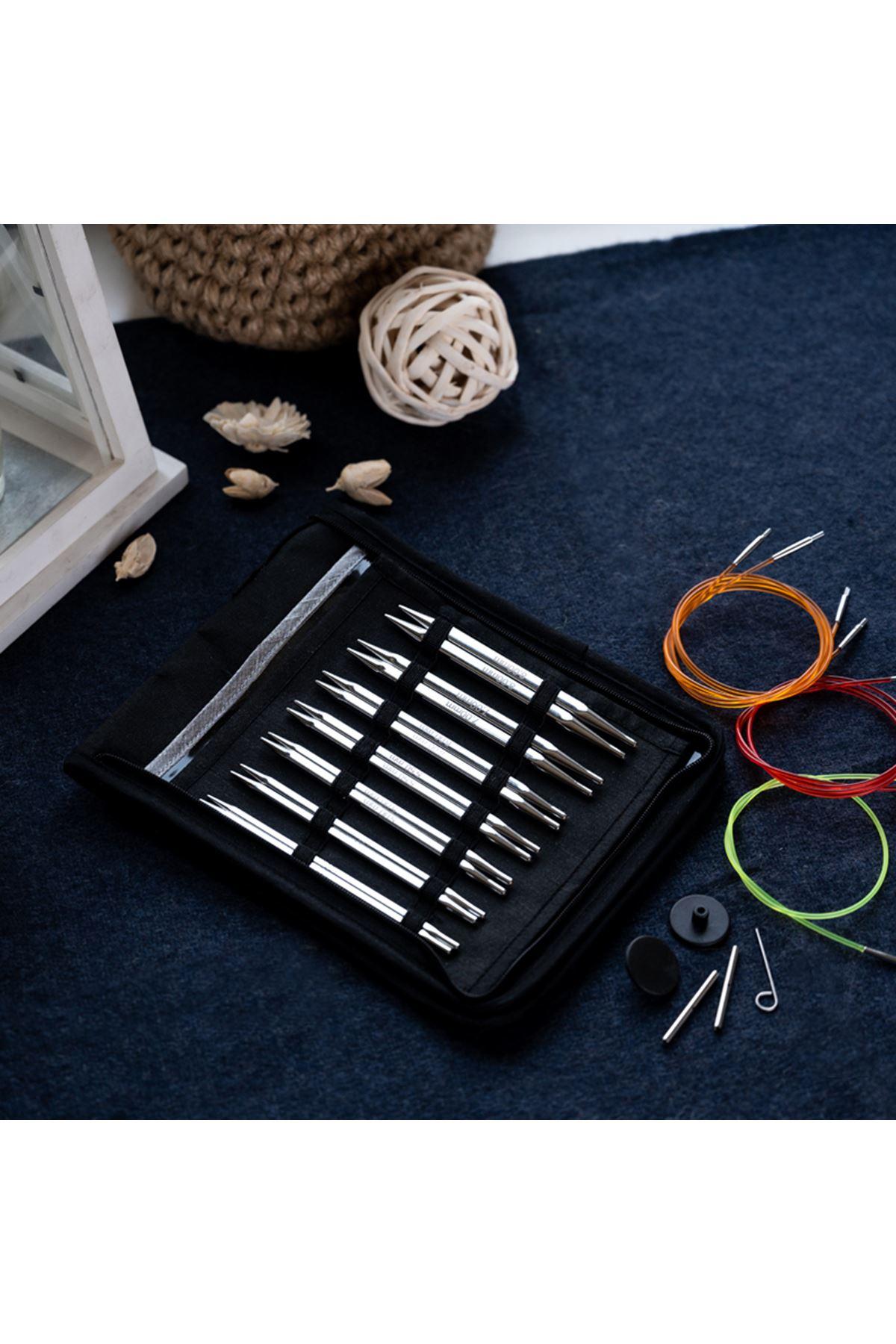 Knit Pro Nova Cubics Değiştirilebilir Misinalı Örgü Şişi Seti