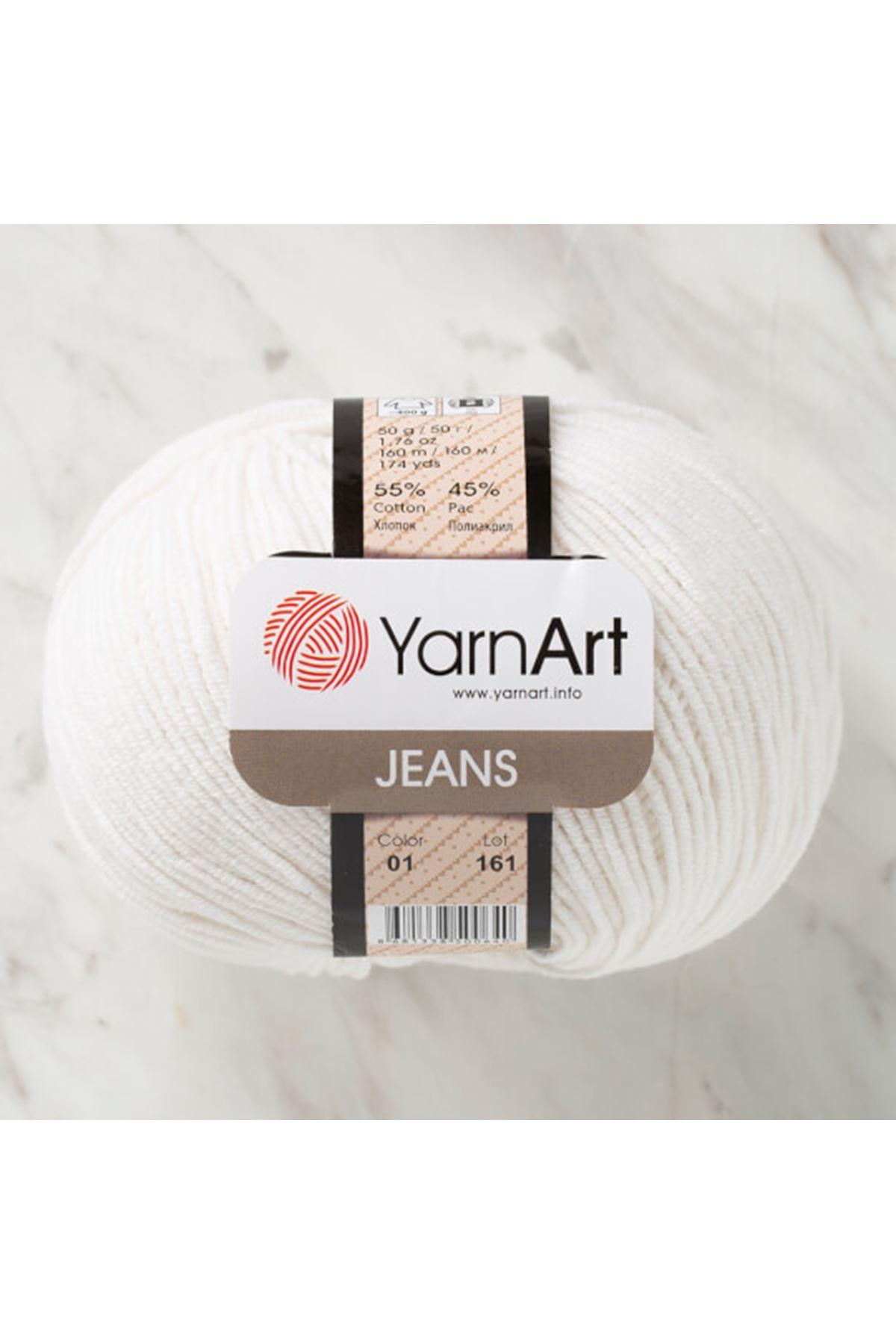 Yarnart Jeans 01 Kırık Beyaz