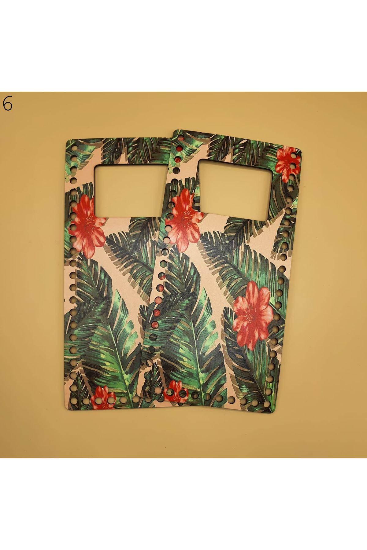 Desenli Çanta Plakası 25x14cm 06