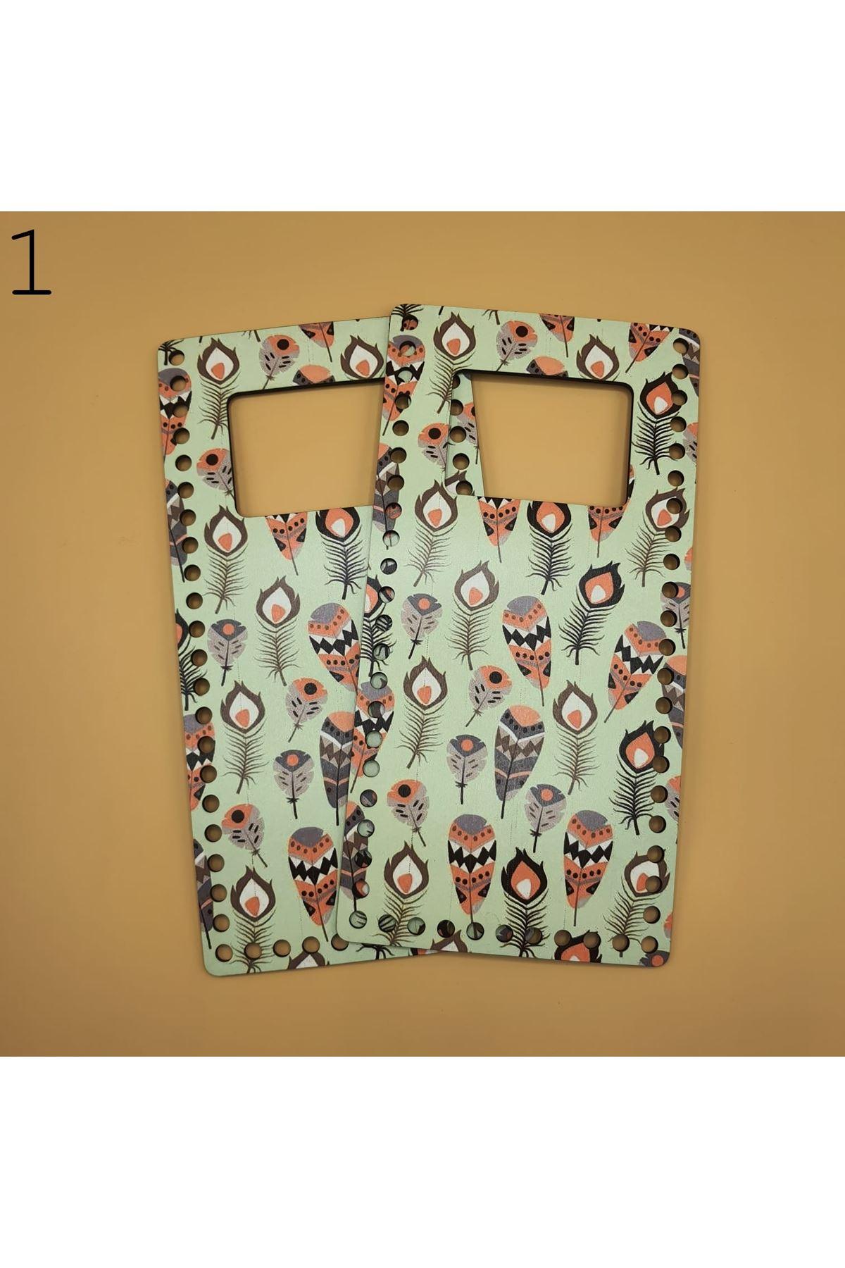Desenli Çanta Plakası 25x14cm 01