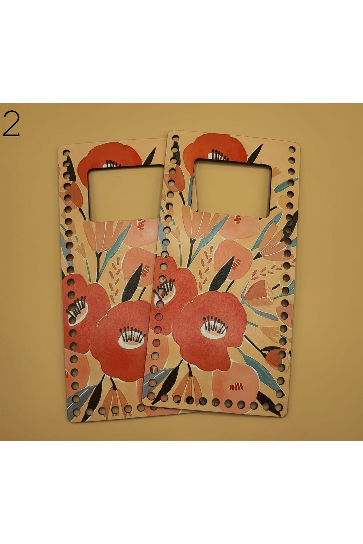 Desenli Çanta Plakası 25x14cm 02