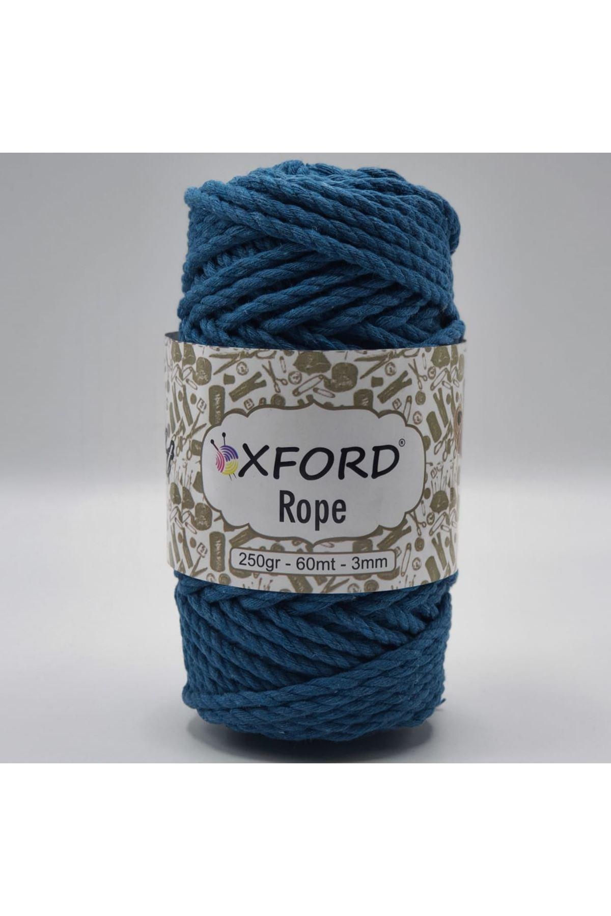 Oxford Rope 3mm 006 Petrol Mavi