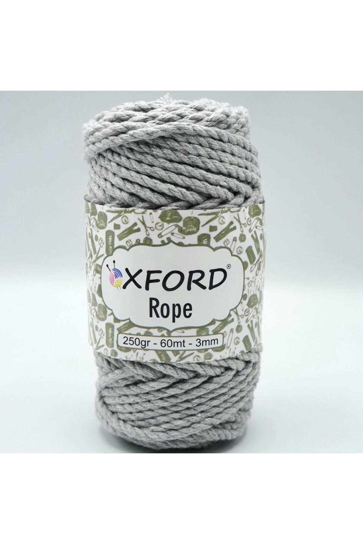 Oxford Rope 3mm 008 Açık Gri