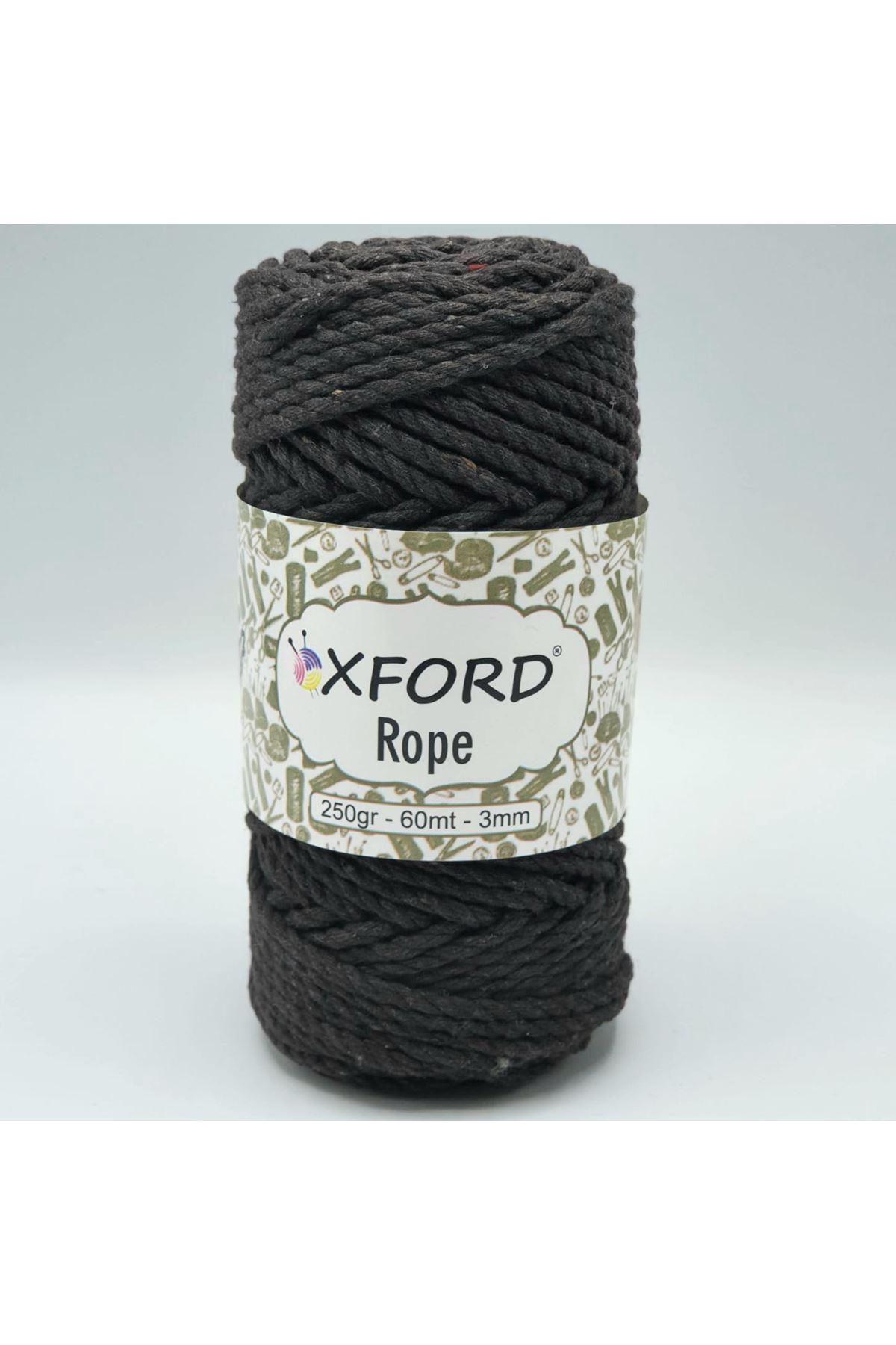 Oxford Rope 3mm 013 Acı Kahve
