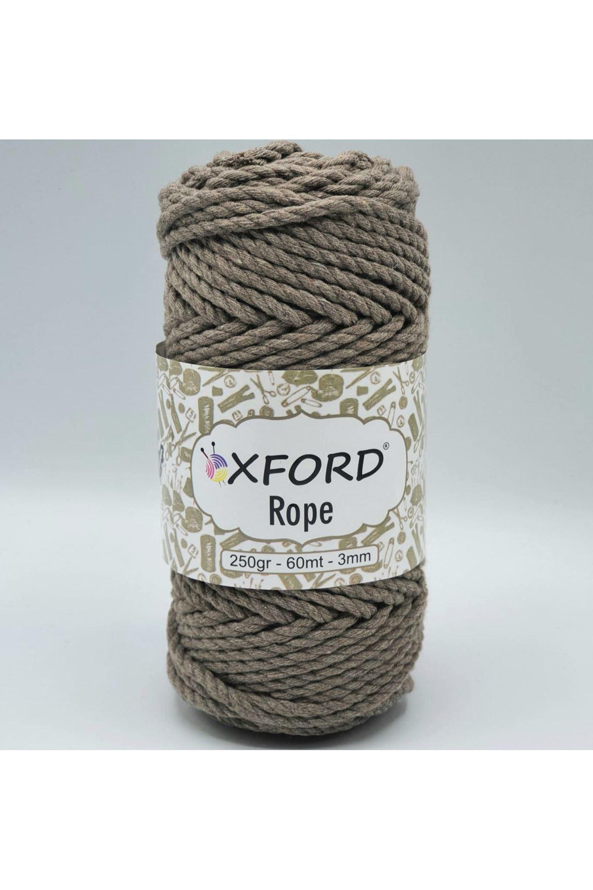 Oxford Rope 3mm 012 Sütlükahve