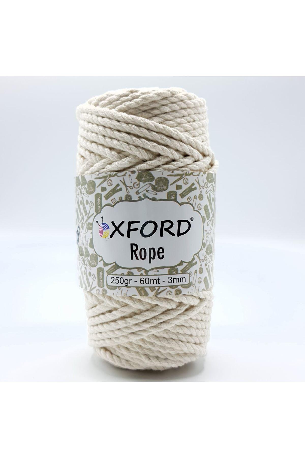 Oxford Rope 3mm 001 Krem