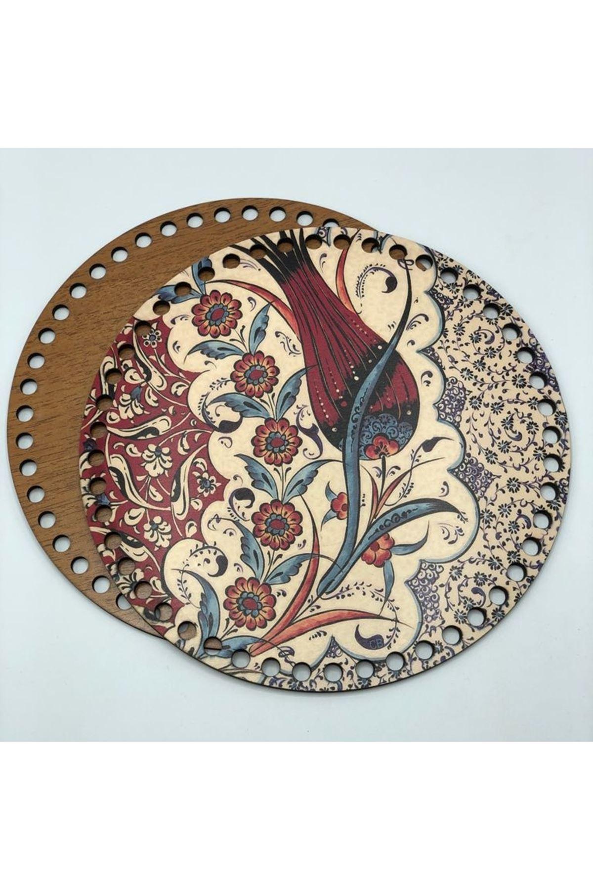 Desenli Çanta Tabanı 20cm Çap - 6
