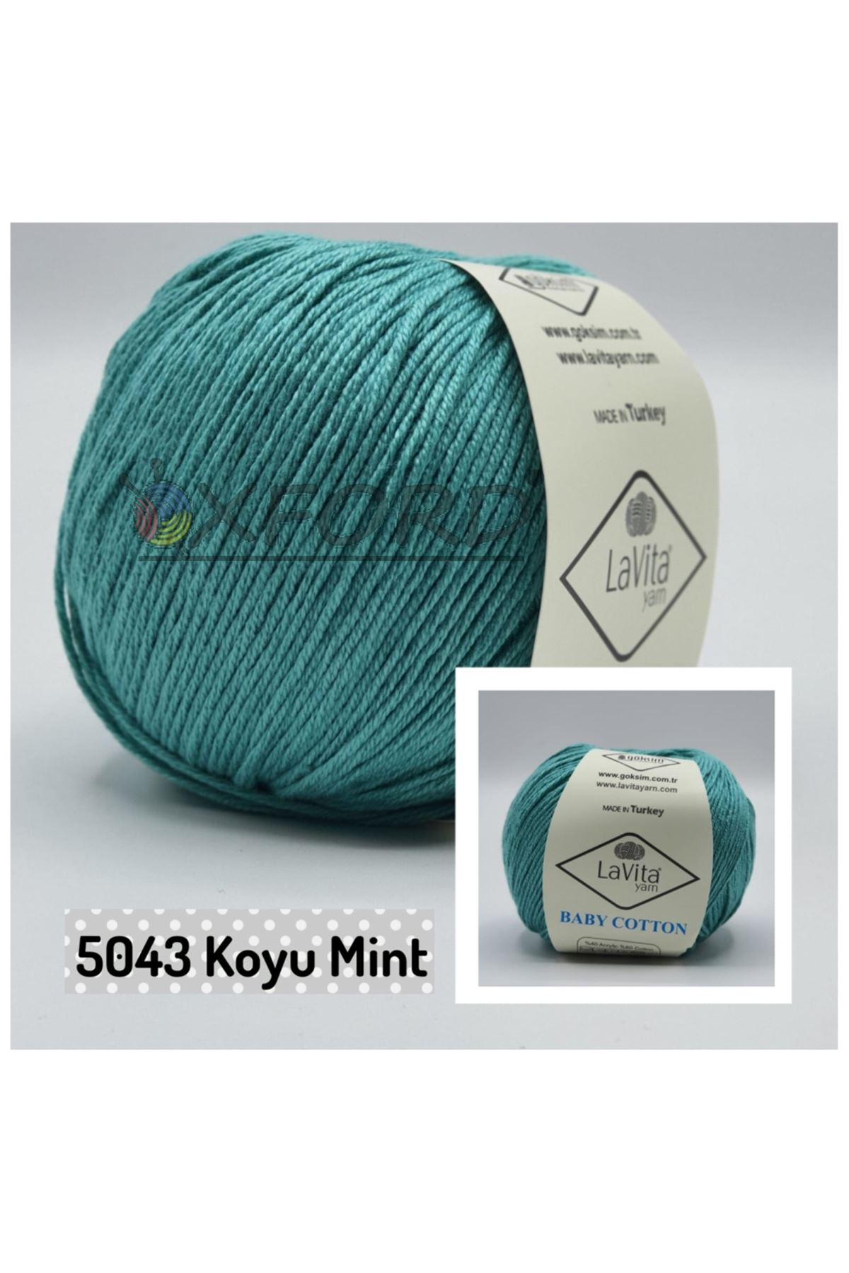 Lavita Baby Cotton 5043 Koyu Mint