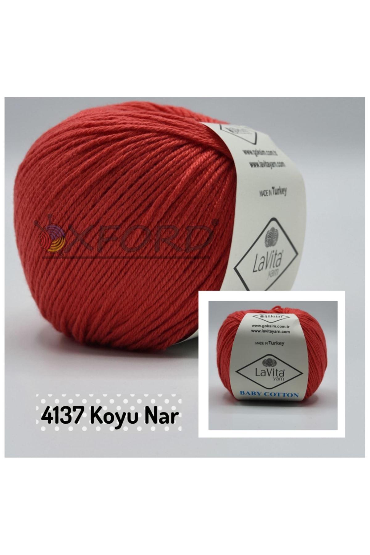 Lavita Baby Cotton 4137 Koyu Nar