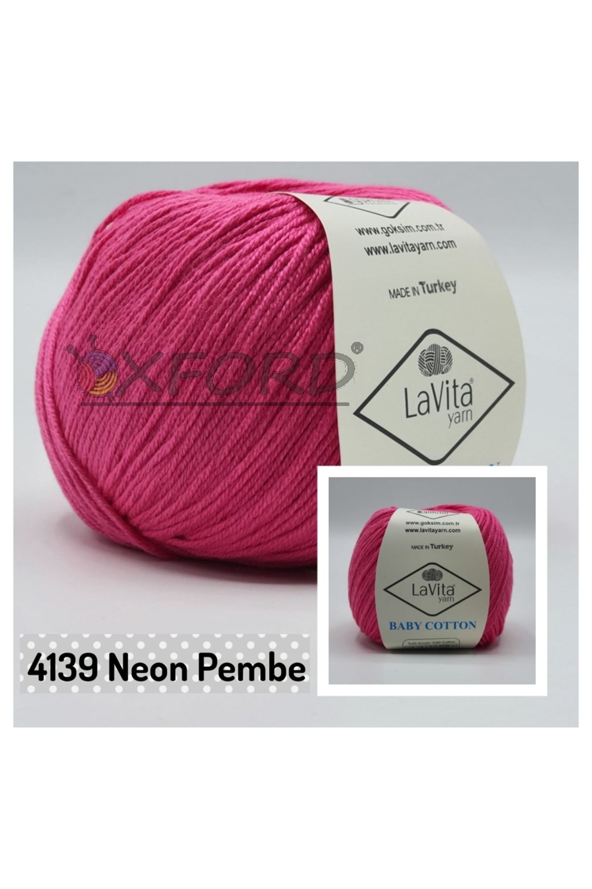 Lavita Baby Cotton 4139 Neon Pembe