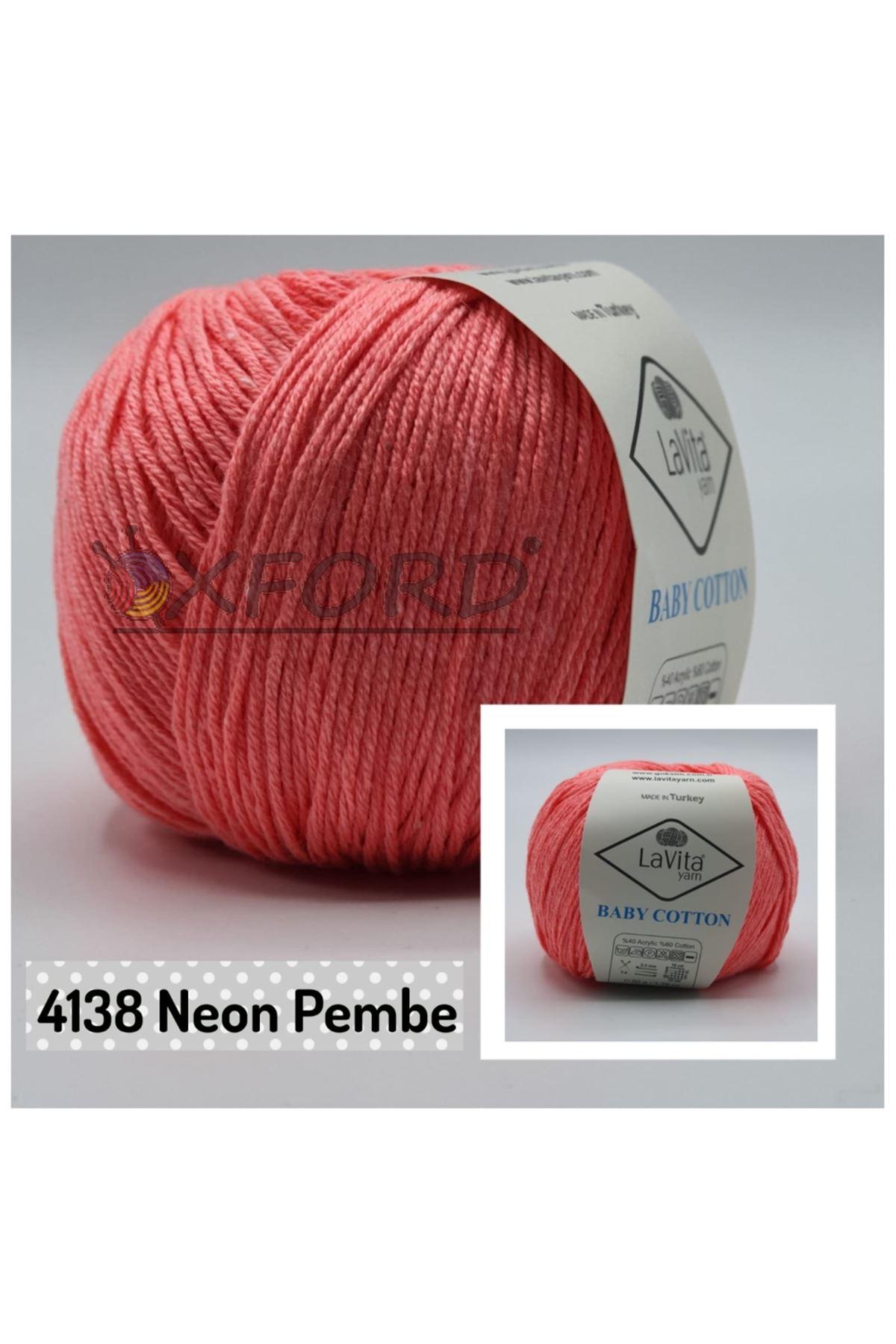 Lavita Baby Cotton 4138 Neon Pembe
