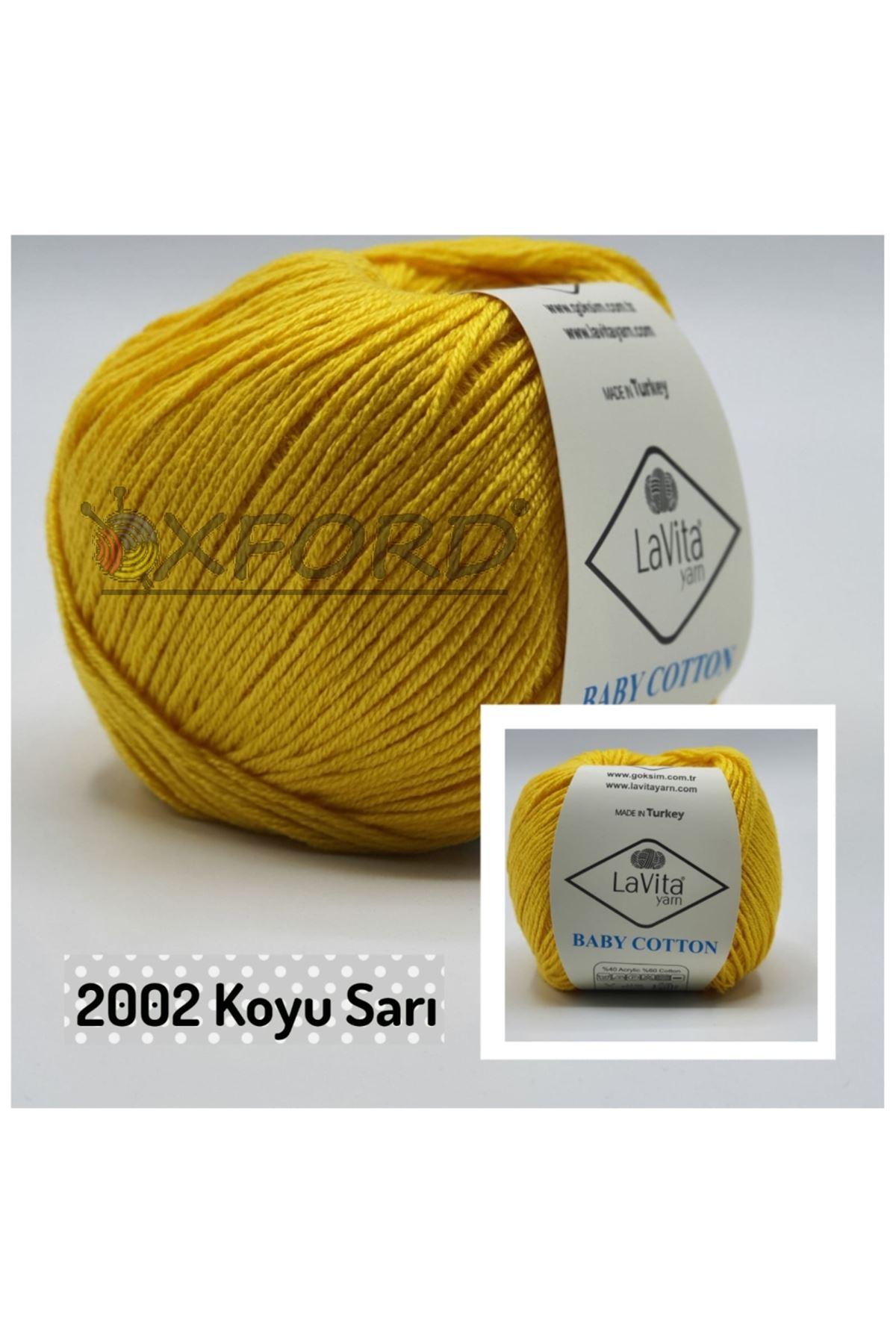 Lavita Baby Cotton 2002 Koyu Sarı