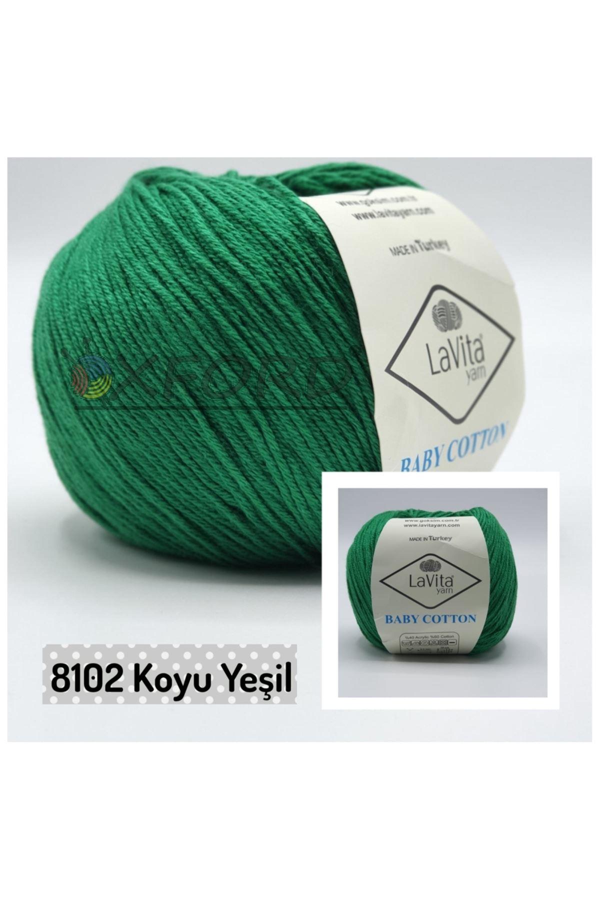 Lavita Baby Cotton 8102 Koyu Yeşil
