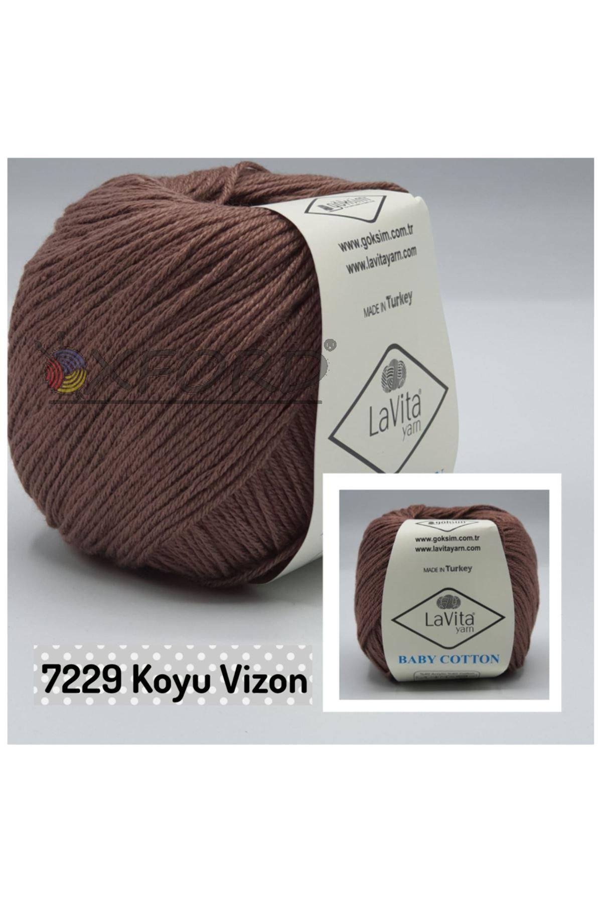 Lavita Baby Cotton 7229 Koyu Vizon