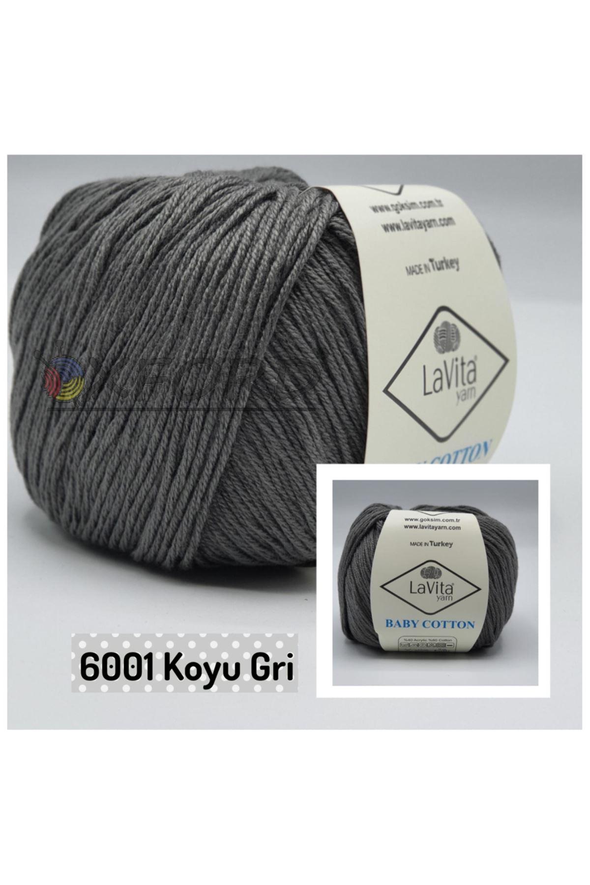 Lavita Baby Cotton 6001 Koyu Gri