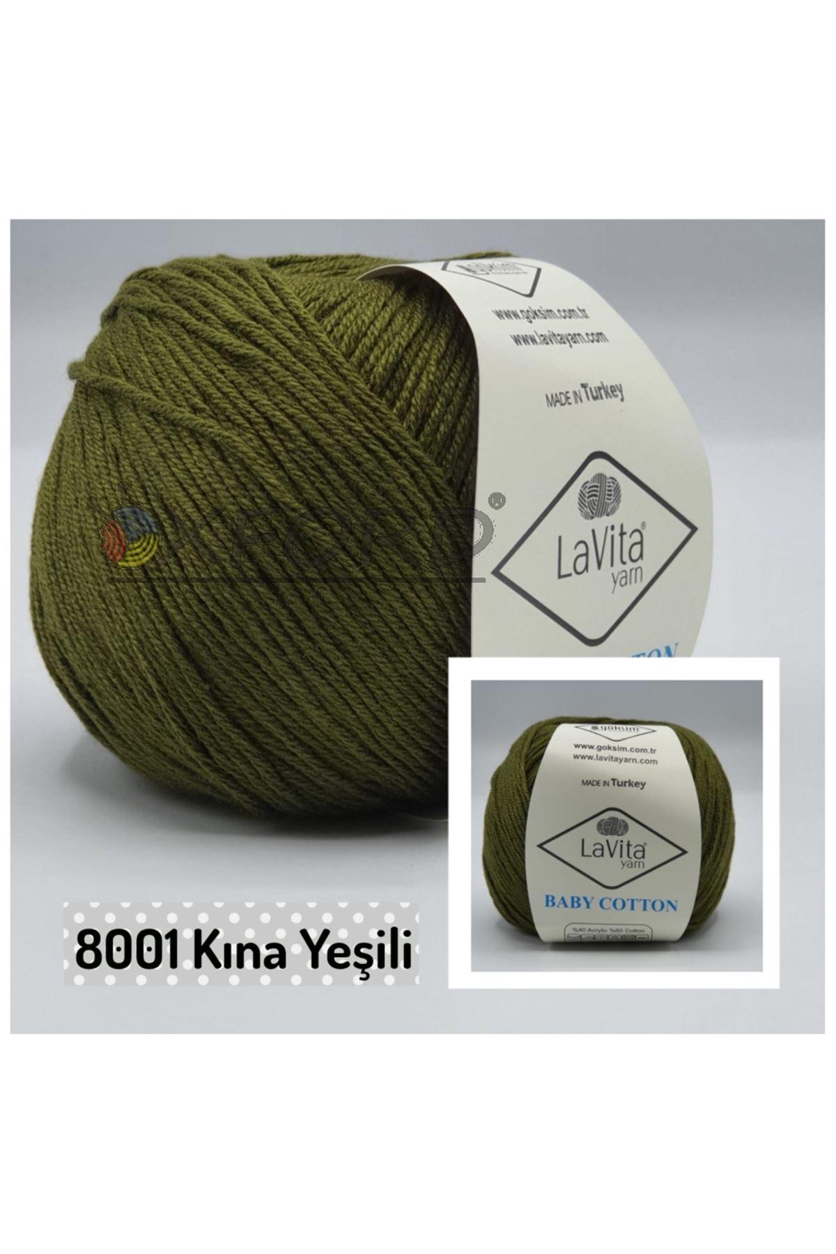 Lavita Baby Cotton 8001 Kına Yeşili