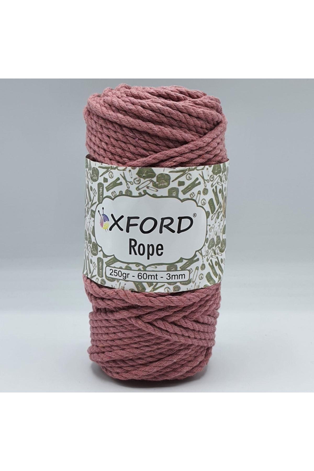 Oxford Rope 3mm 014 Gül Kurusu