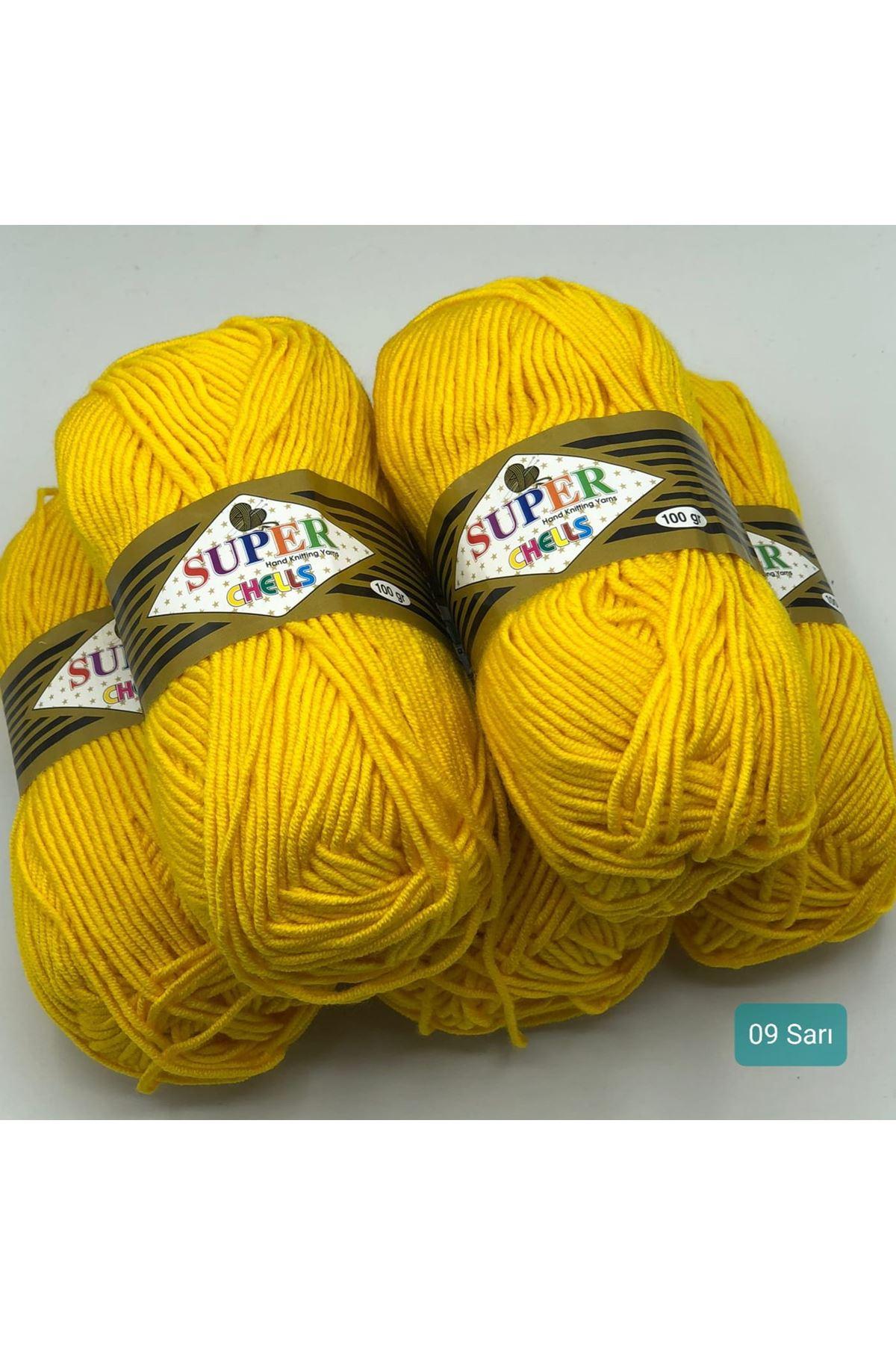 İhrac Fazlası Akrilik 5'li Paket 09 Sarı