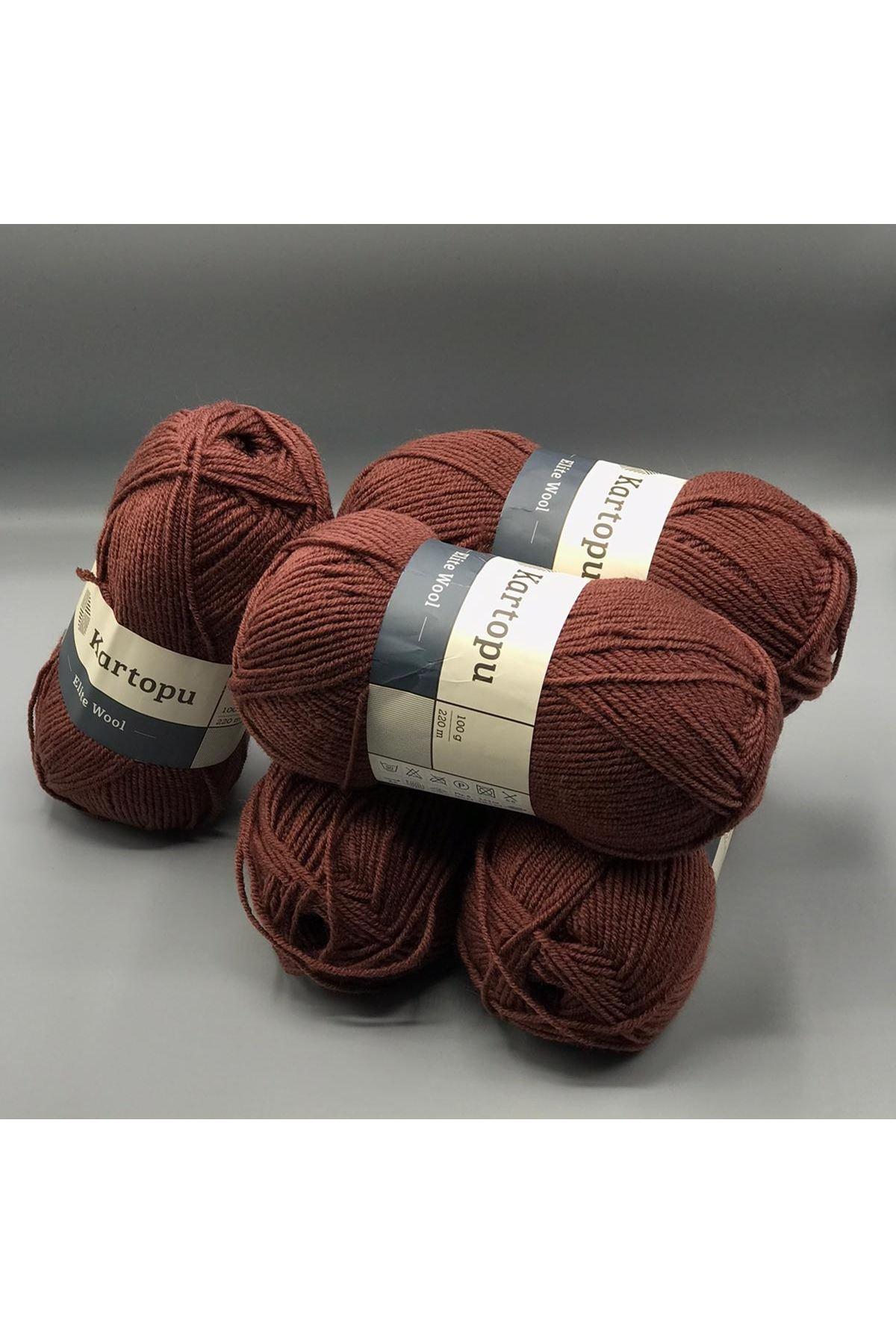 Kartopu Elite Wool 5'li Paket K1892 Çikolata