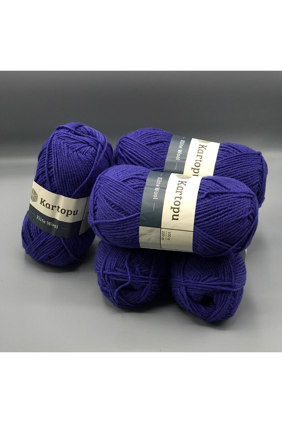 Kartopu Elite Wool 5'li Paket K1624 Koyu Mavi