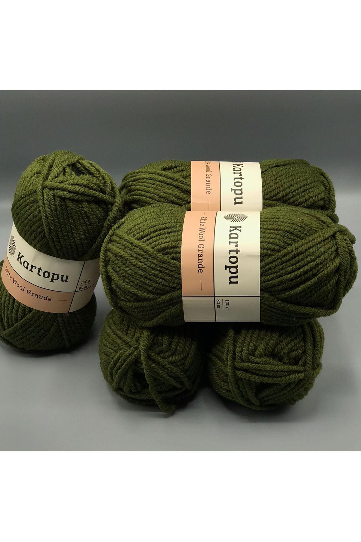 Kartopu Elite Wool Grande 5'li Paket K410 Çimen