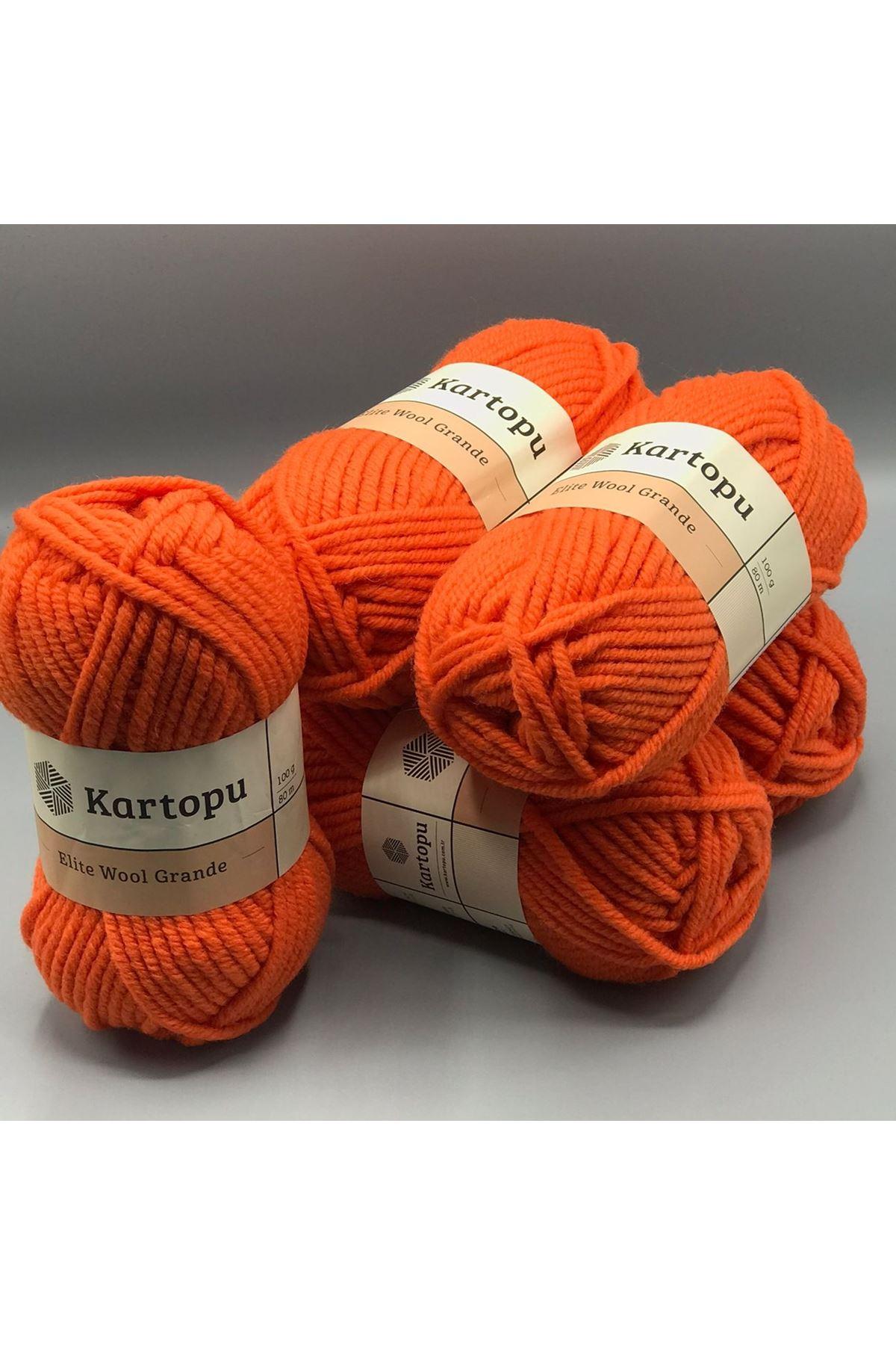 Kartopu Elite Wool Grande 5'li Paket K211 Turuncu