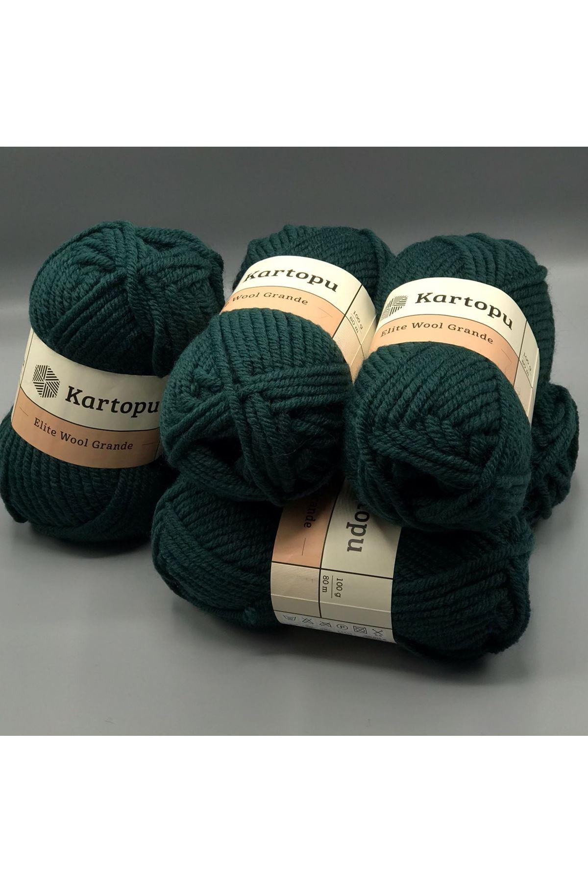 Kartopu Elite Wool Grande 5'li Paket K1483 Çam