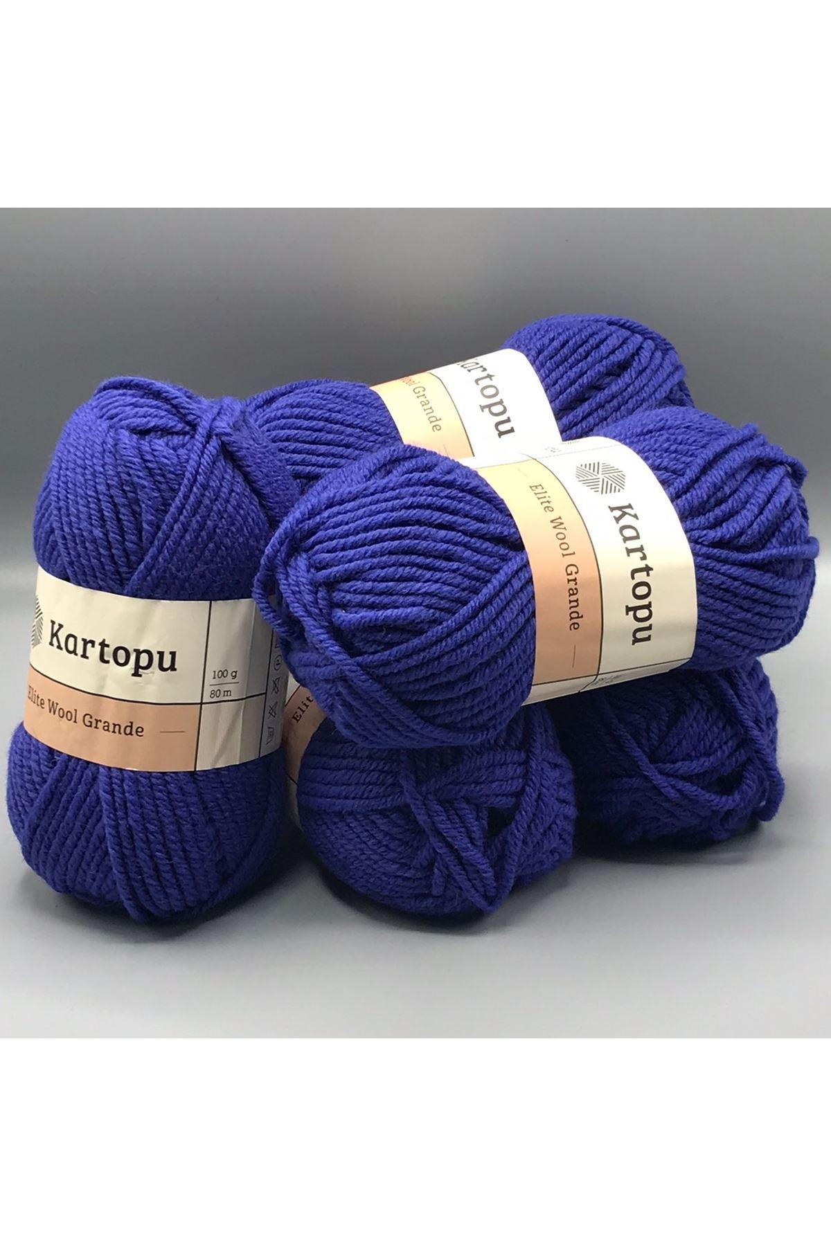 Kartopu Elite Wool Grande 5'li Paket K1624 Saks