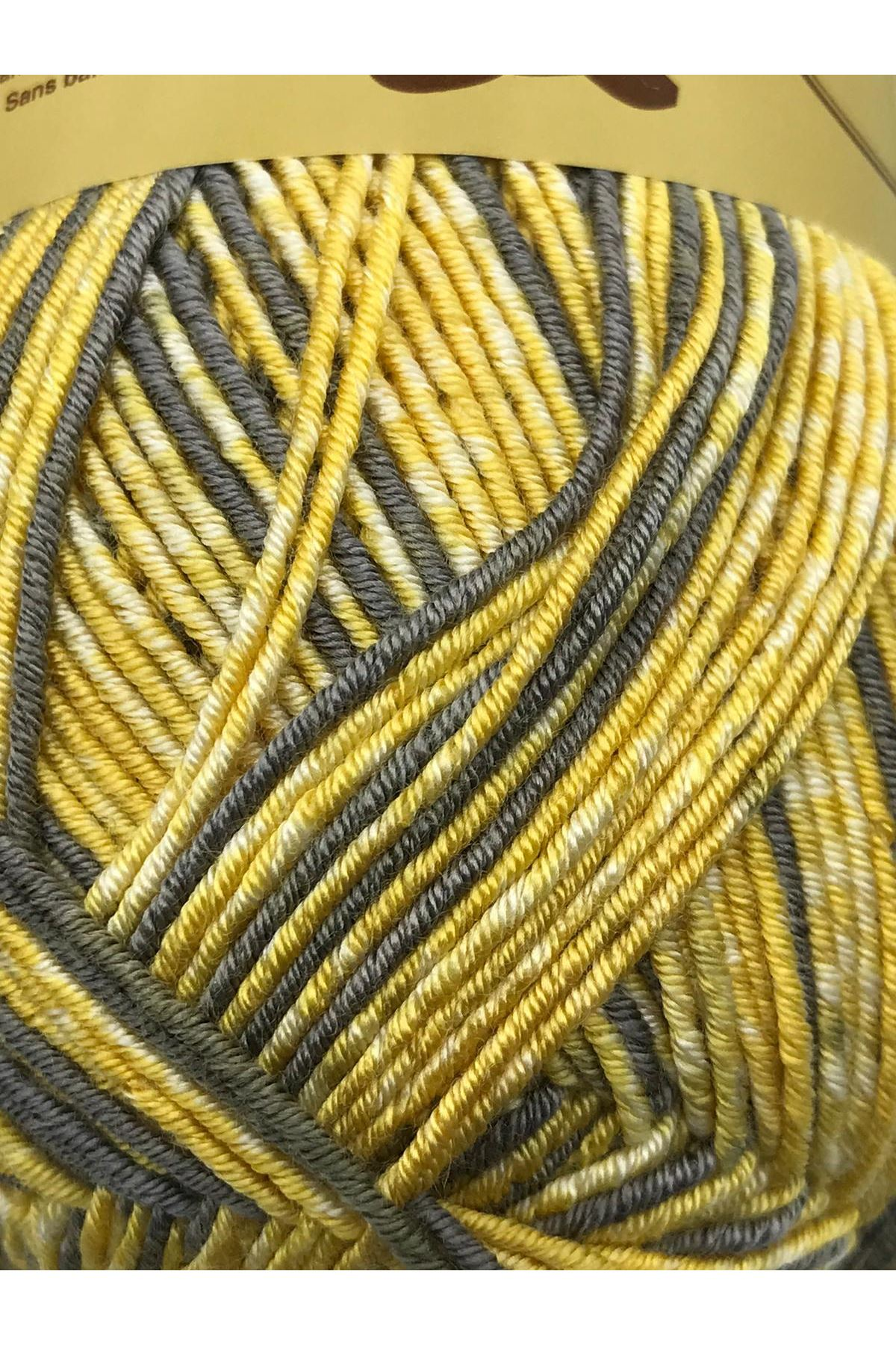 İhrac Fazlası 5'li Paket Çoraplık Akrilik Ebruli 257