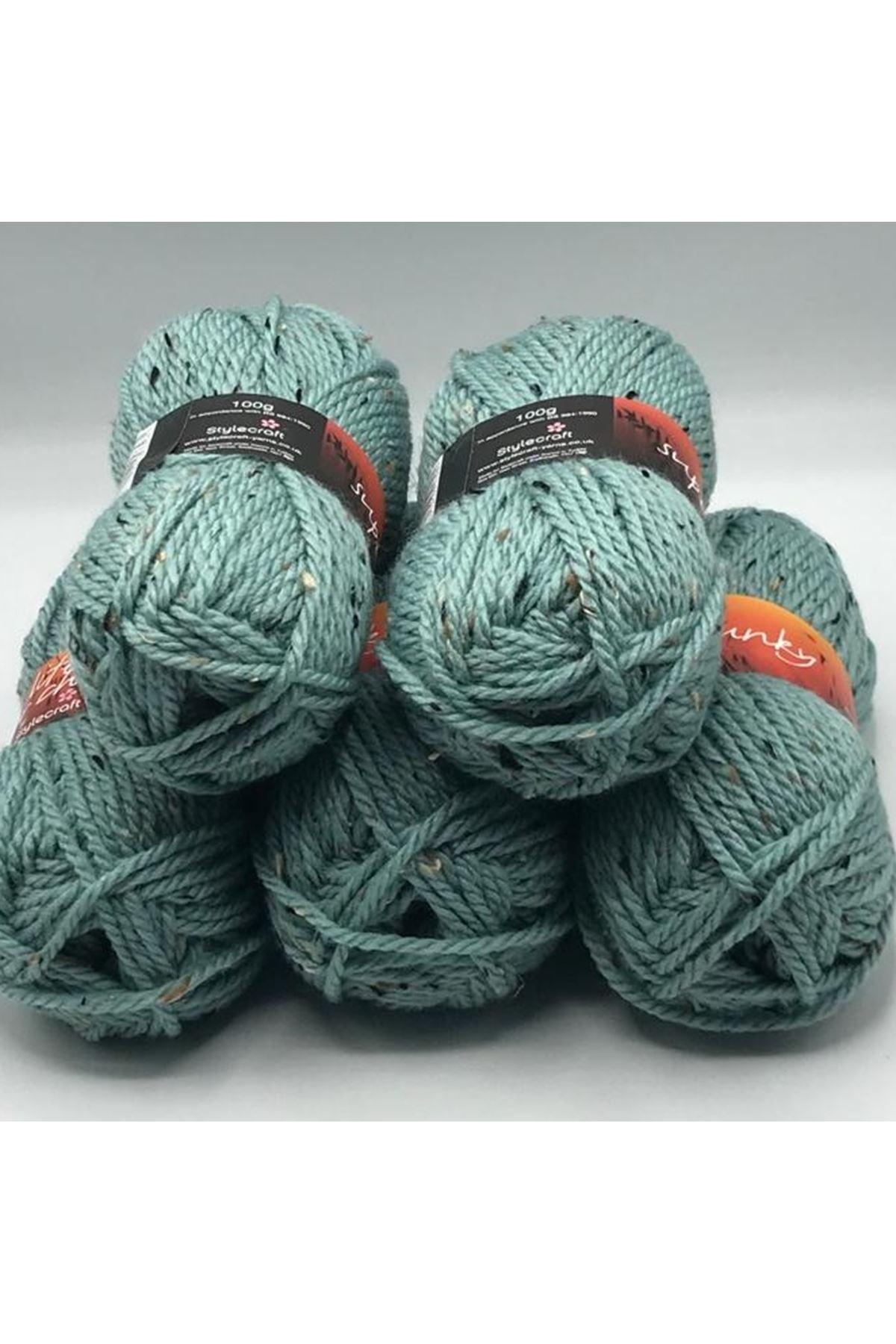 İhrac Fazlası 5'li Paket Yünlü Tweed Yeşil 264