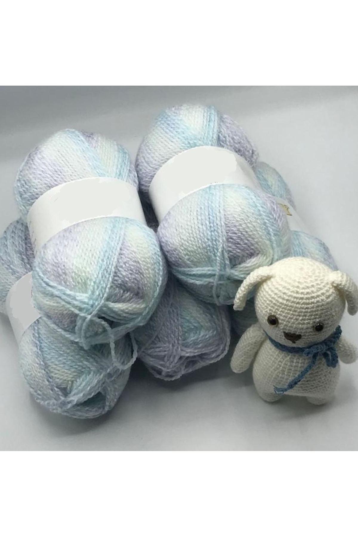 İhrac Fazlası 5'li Paket Bebe İpi Mavi Batik 273