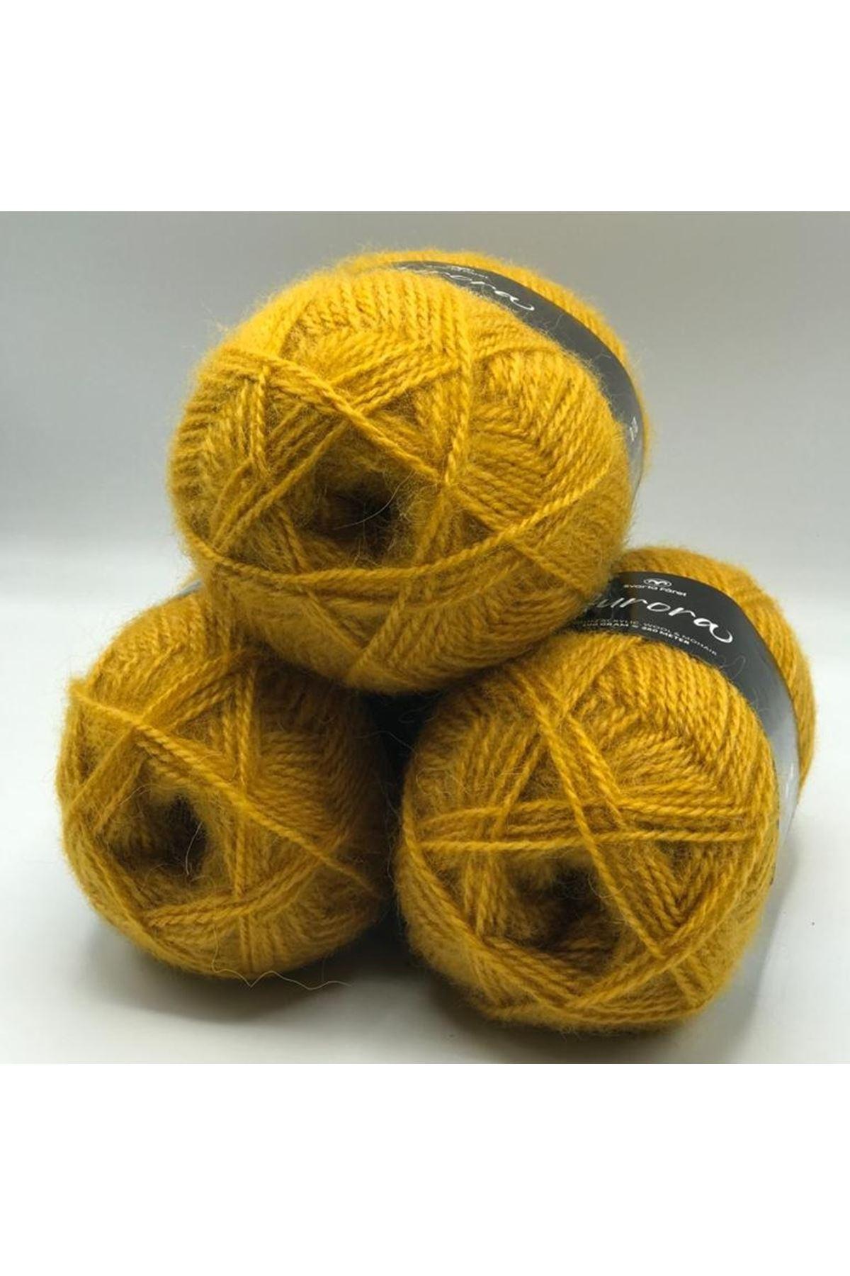 İhrac Fazlası 3'lü Paket Angora Koyu Sarı 267