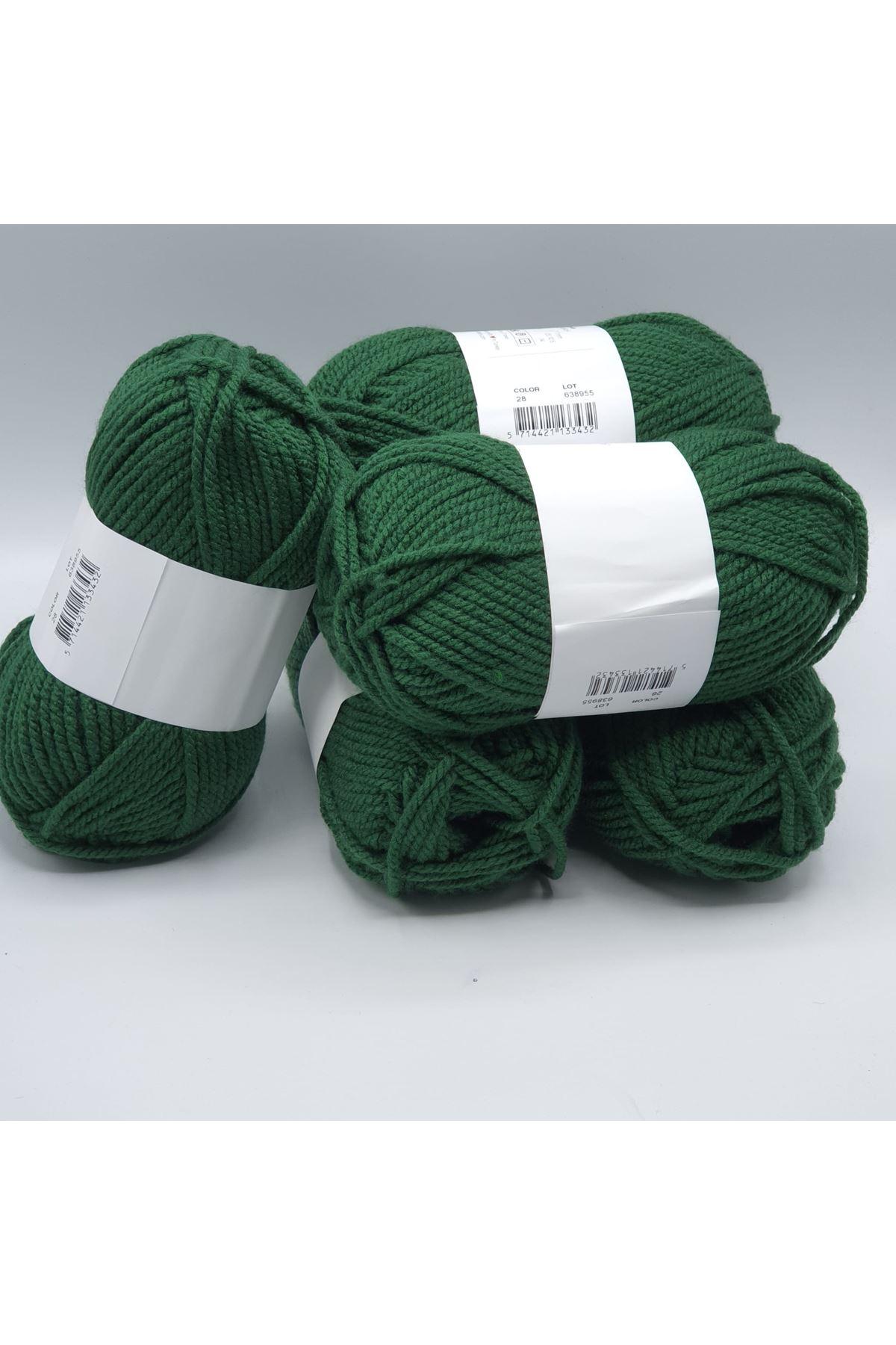 İhrac Fazlası 5'li Paket Akrilik Yeşil 295