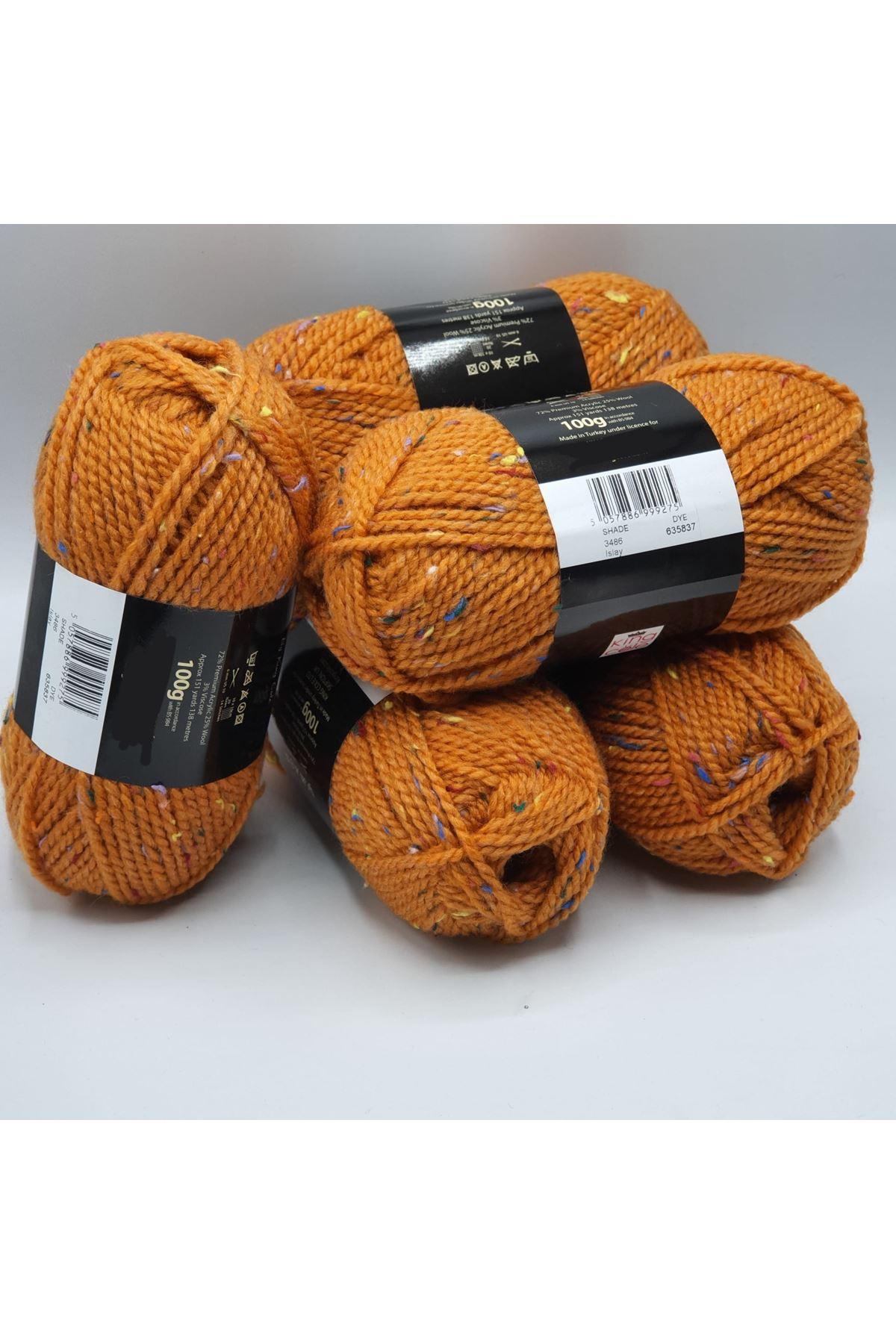 İhrac Fazlası 5'li Paket Yünlü Tweed Turuncu 301