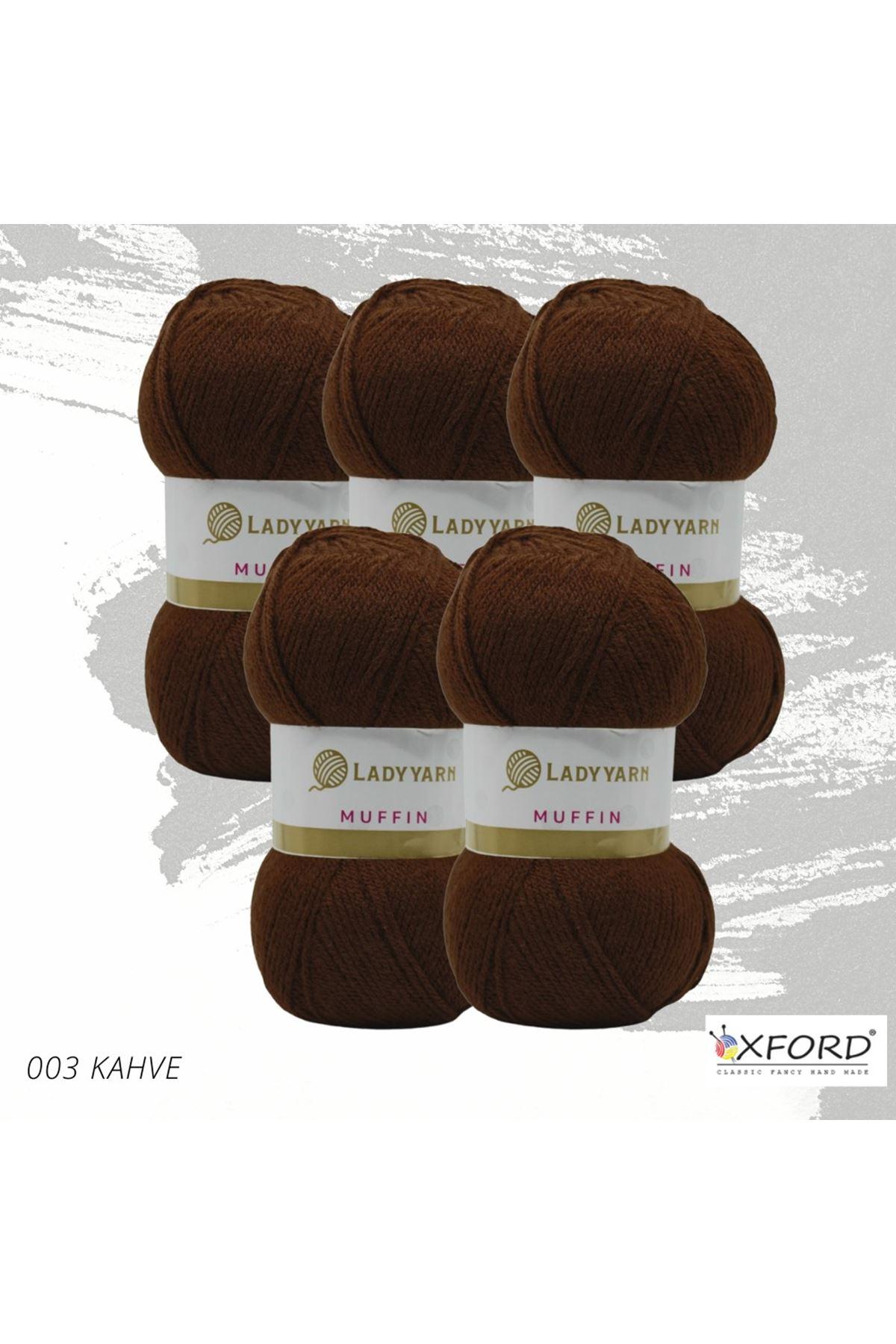 Lady Yarn Muffin 5'li Paket 003 Kahve