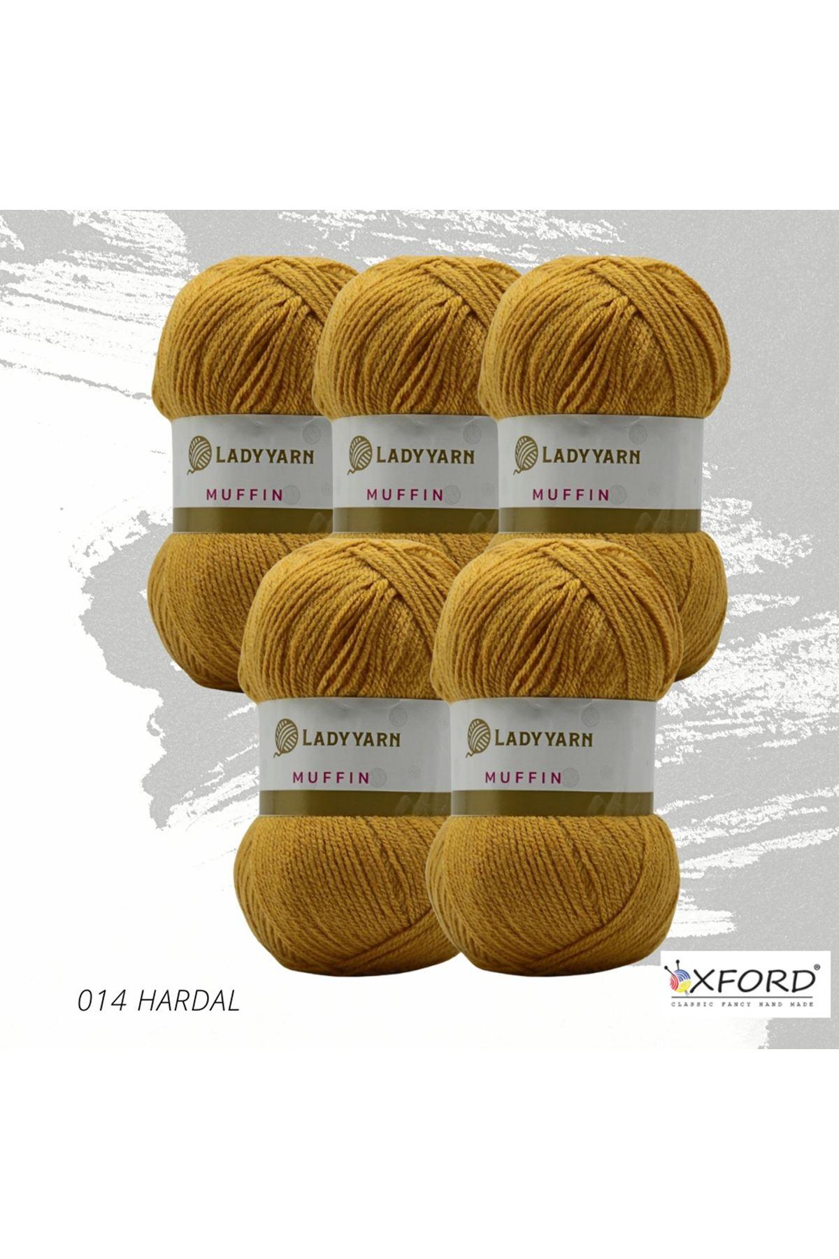 Lady Yarn Muffin 5'li Paket 014 Hardal