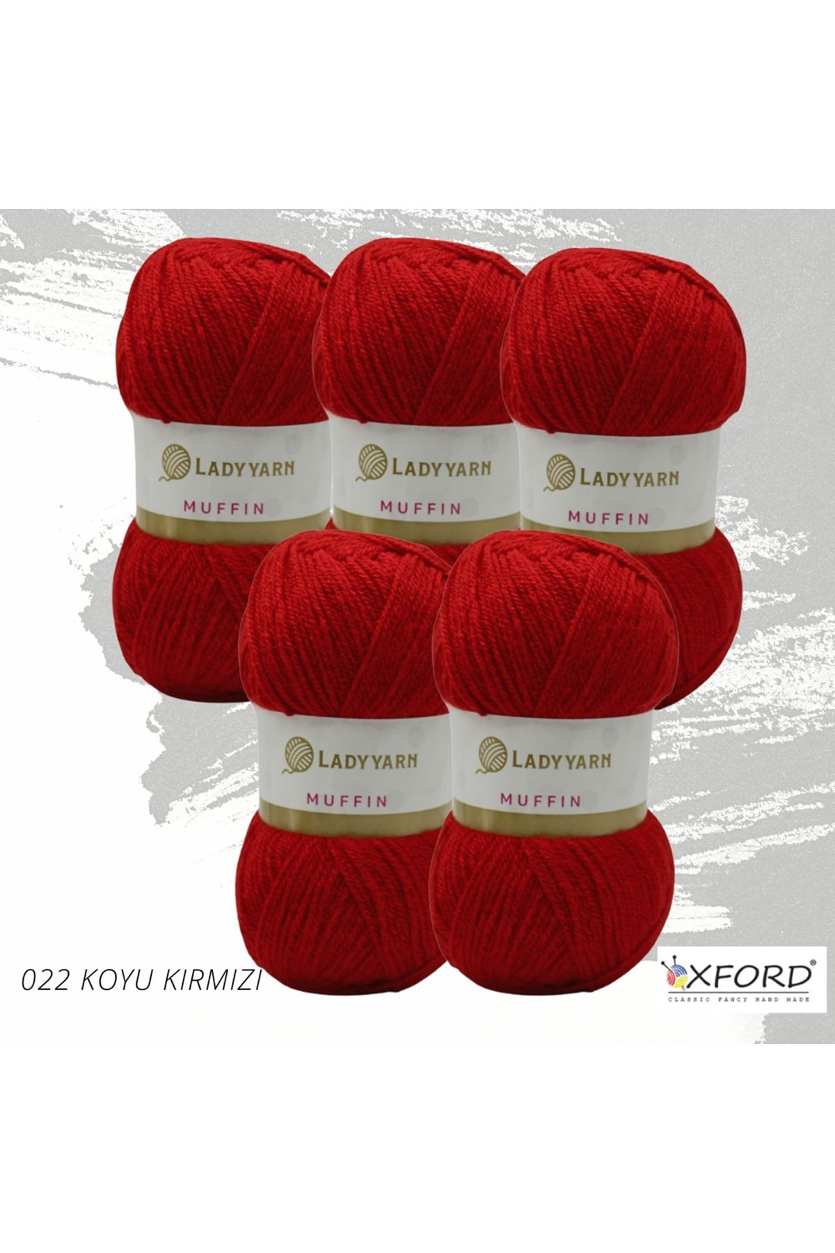 Lady Yarn Muffin 5'li Paket 022 Koyu Kırmızı