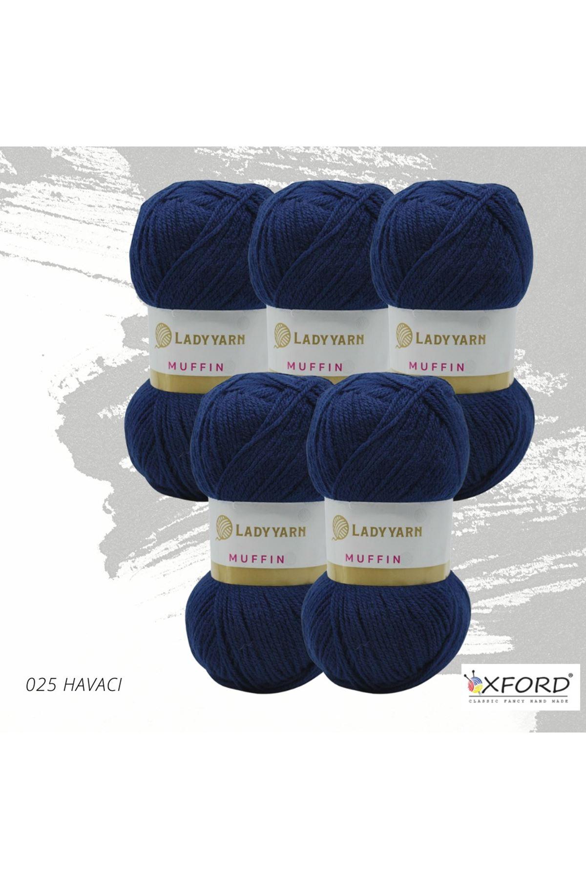 Lady Yarn Muffin 5'li Paket 025 Havacı Mavi