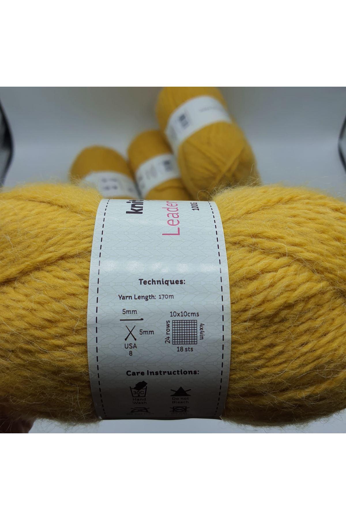 İhrac Fazlası 5'li Paket Alpaca Hardal 316