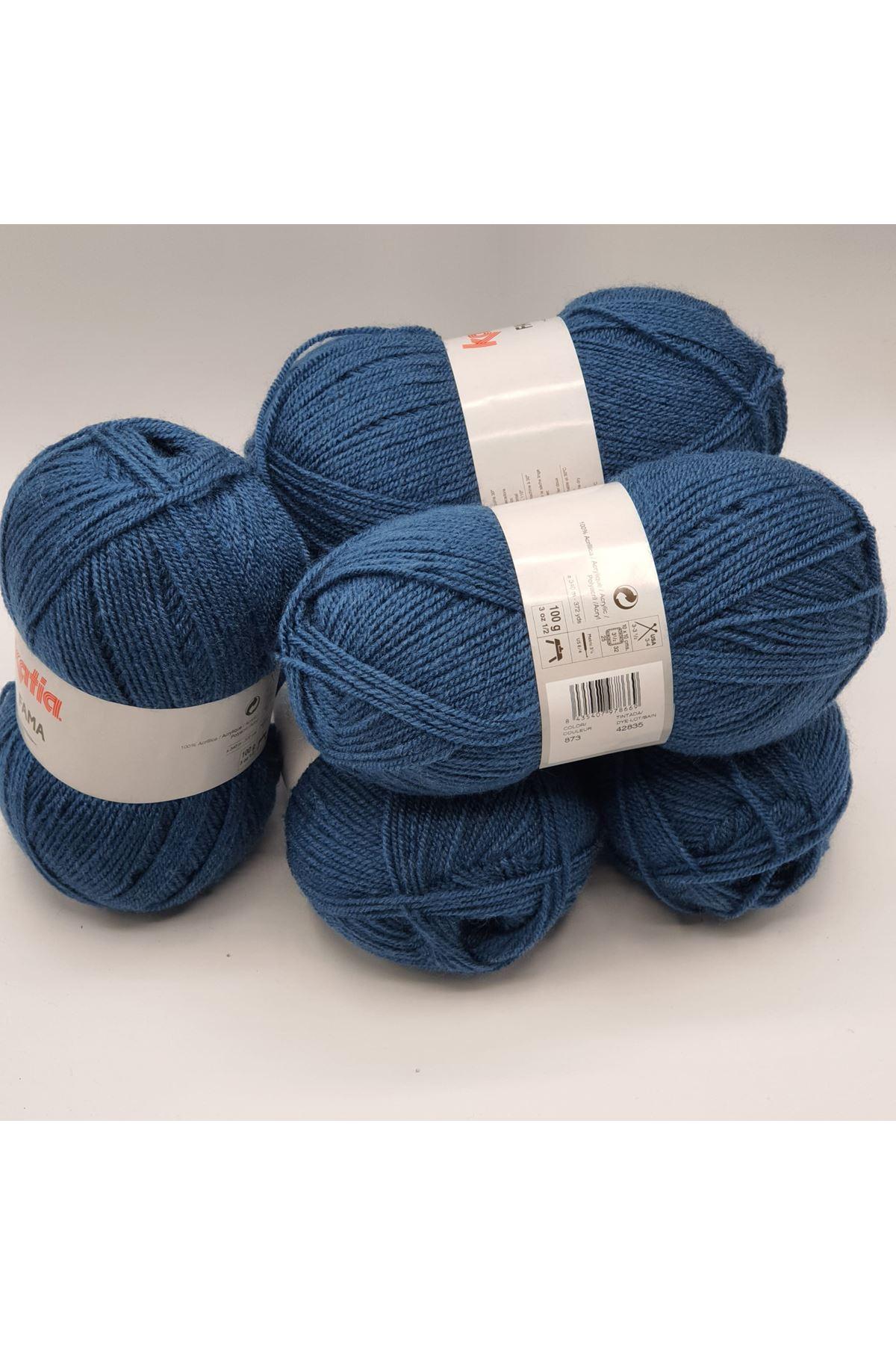 İhrac Fazlası 5'li Paket İnce Akrilik Koyu Mavi 337
